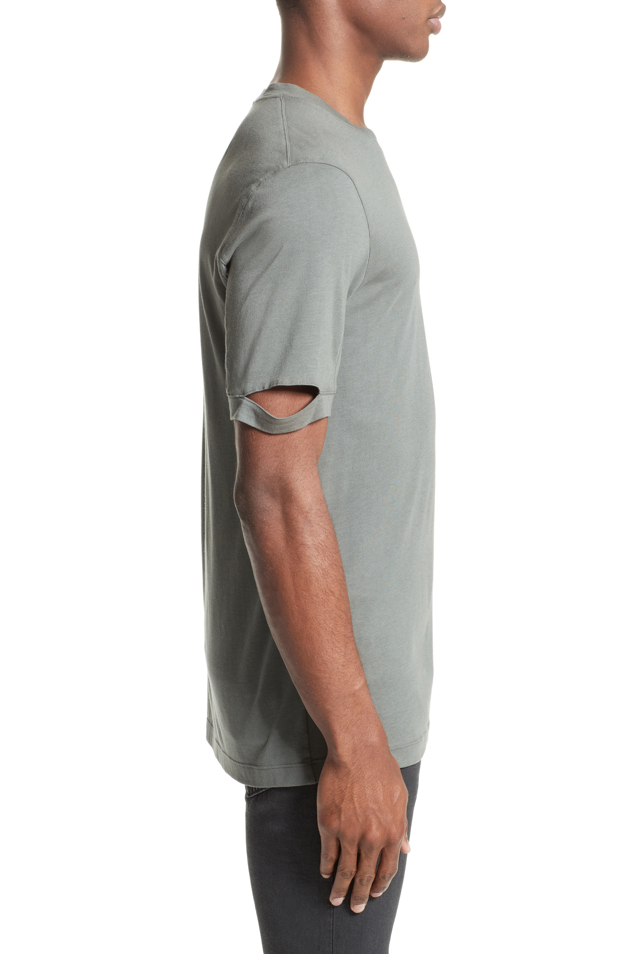 Sliced Sleeve T-Shirt,                             Alternate thumbnail 3, color,                             381
