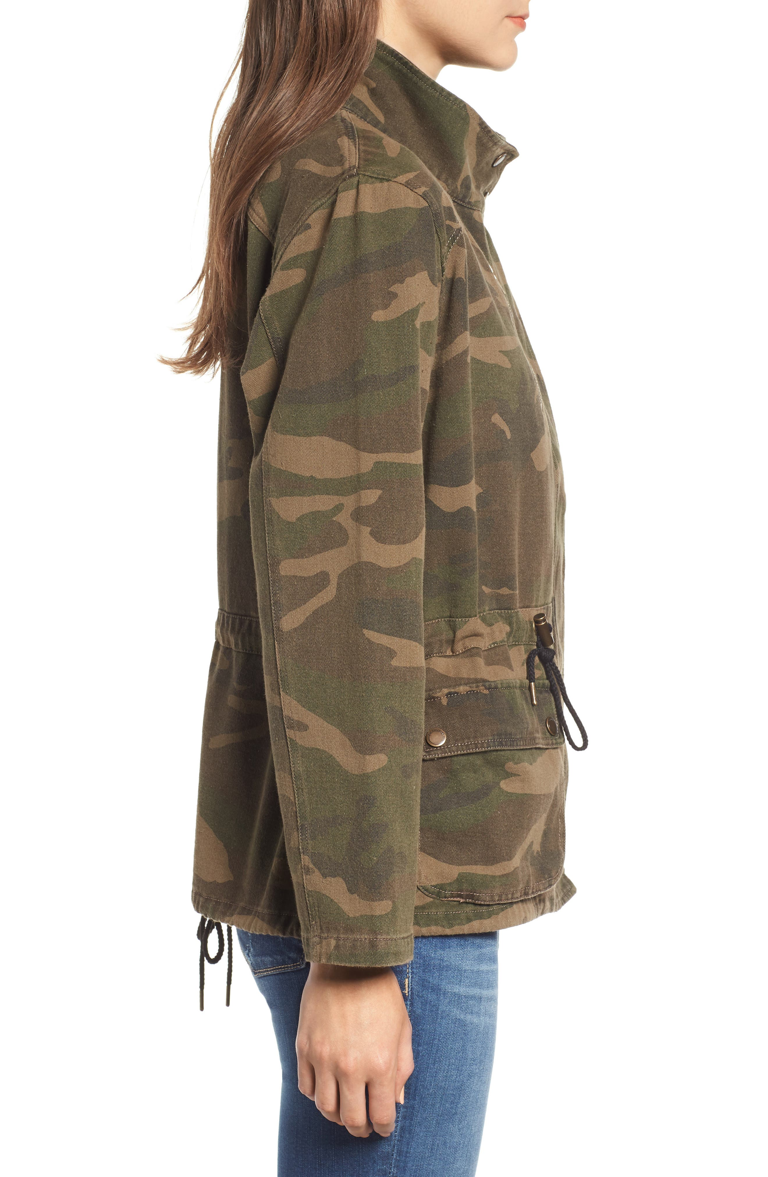 Camo Print Army Jacket,                             Alternate thumbnail 3, color,                             300