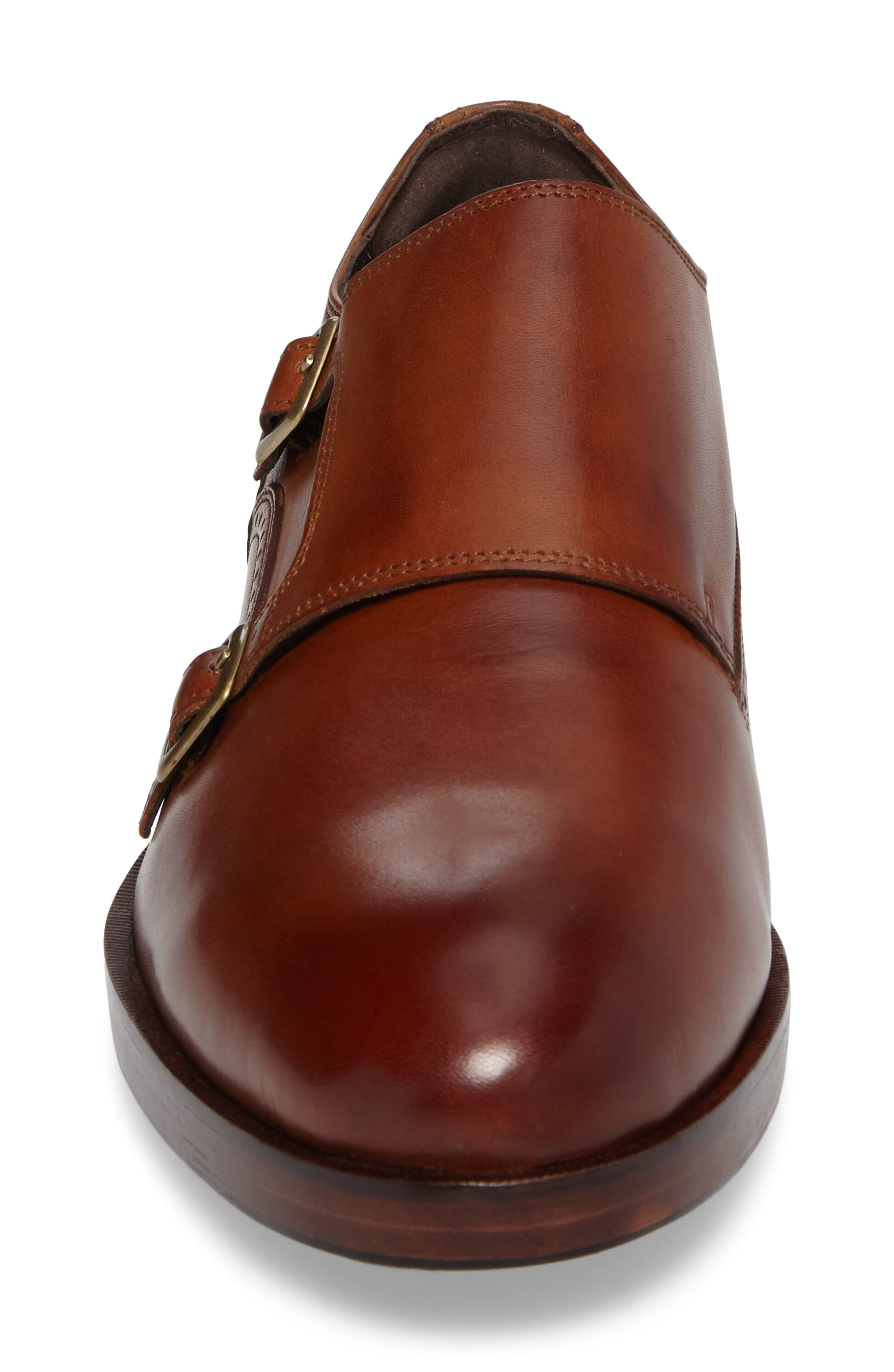 'Harrison' Double Monk Strap Shoe,                             Alternate thumbnail 5, color,                             BRITISH TAN LEATHER