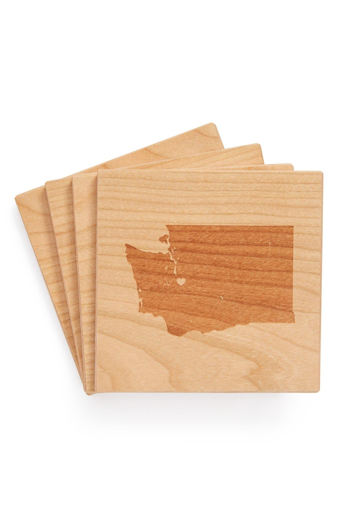 'State Silhouette' Coasters,                             Main thumbnail 21, color,