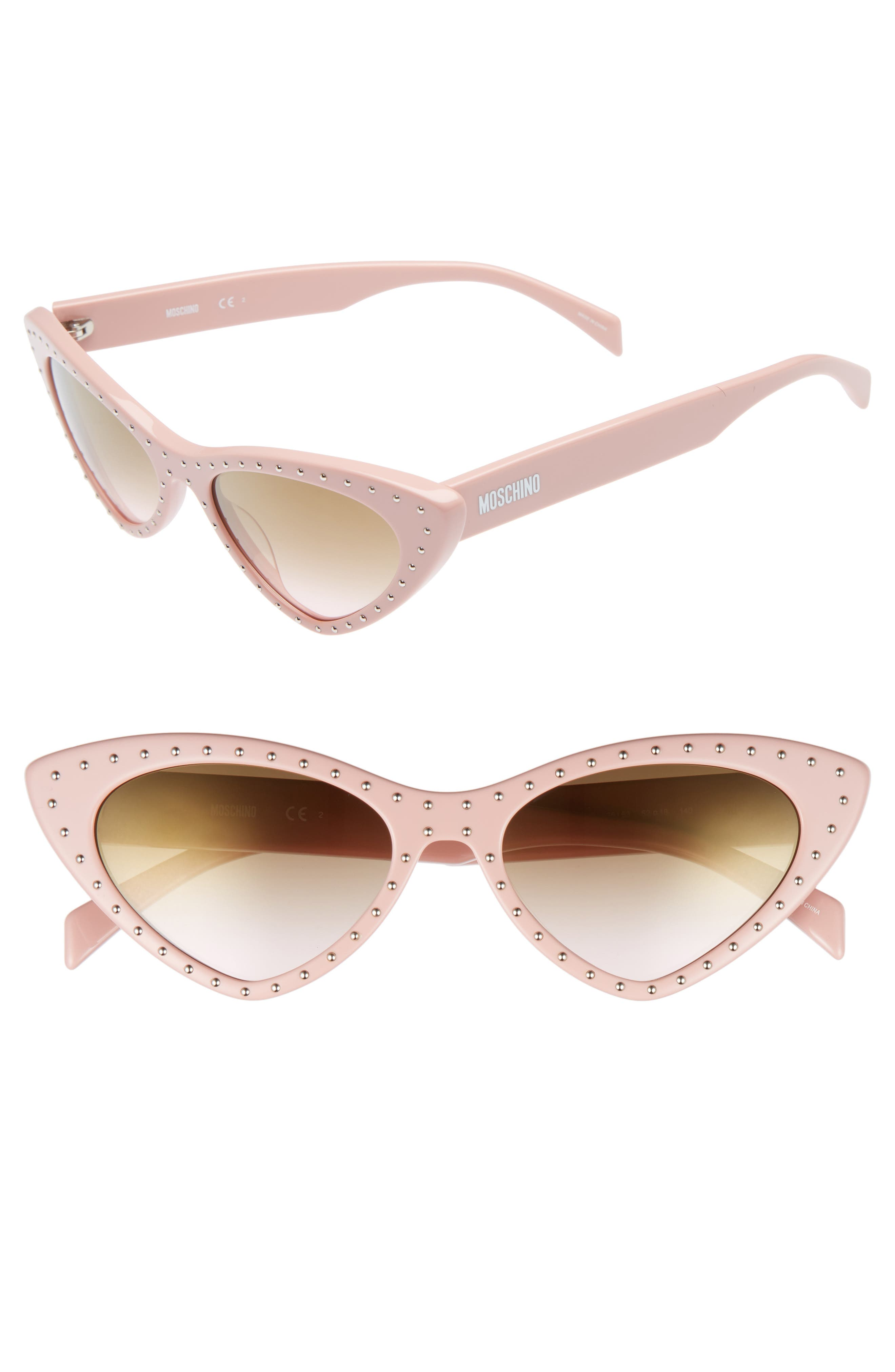 52mm Cat's Eye Sunglasses,                             Main thumbnail 1, color,                             PINK