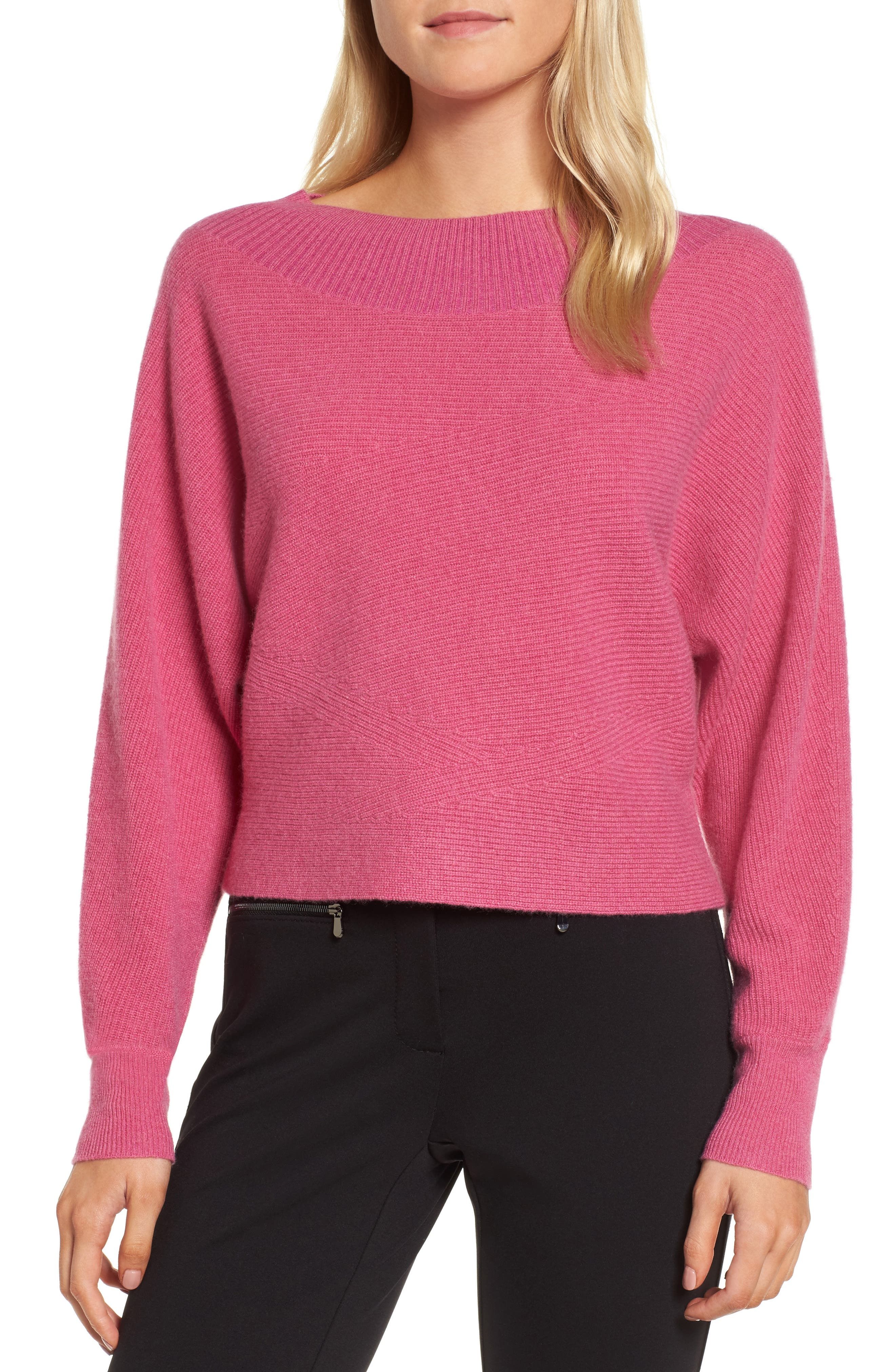 Dolman Sleeve Cashmere Sweater,                             Main thumbnail 2, color,