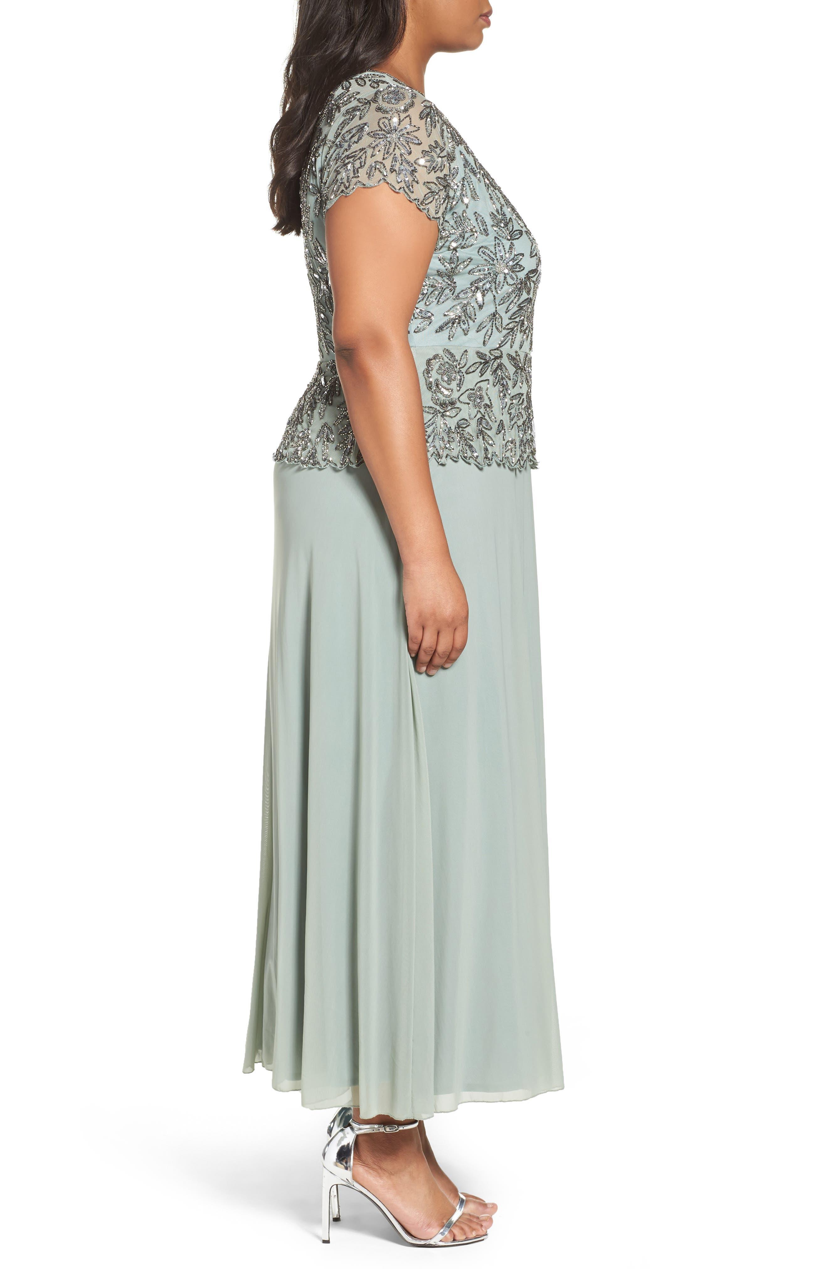 Mock 2-Pc. A-Line Gown,                             Alternate thumbnail 12, color,