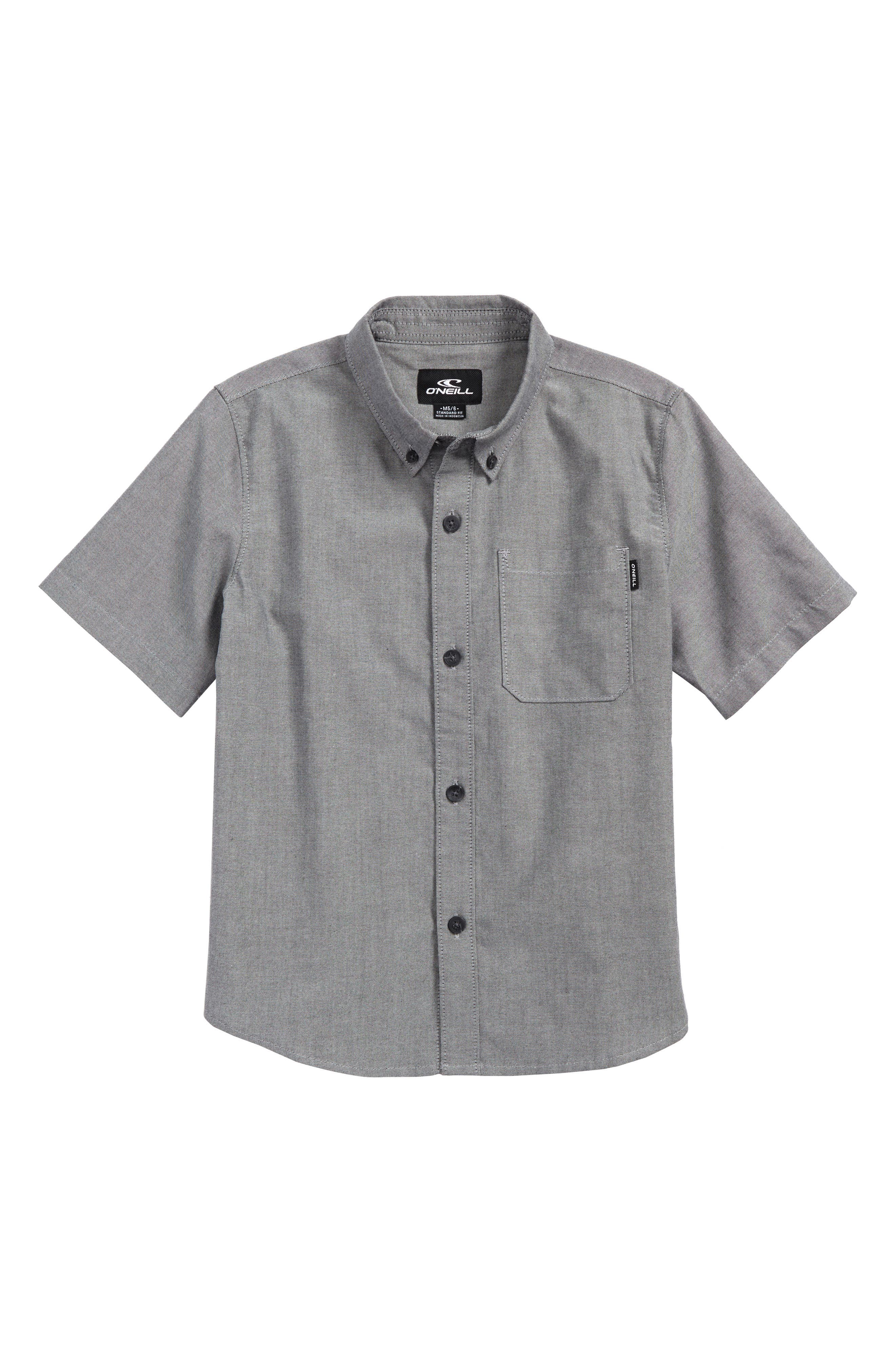 Banks Woven Shirt,                             Main thumbnail 1, color,                             001