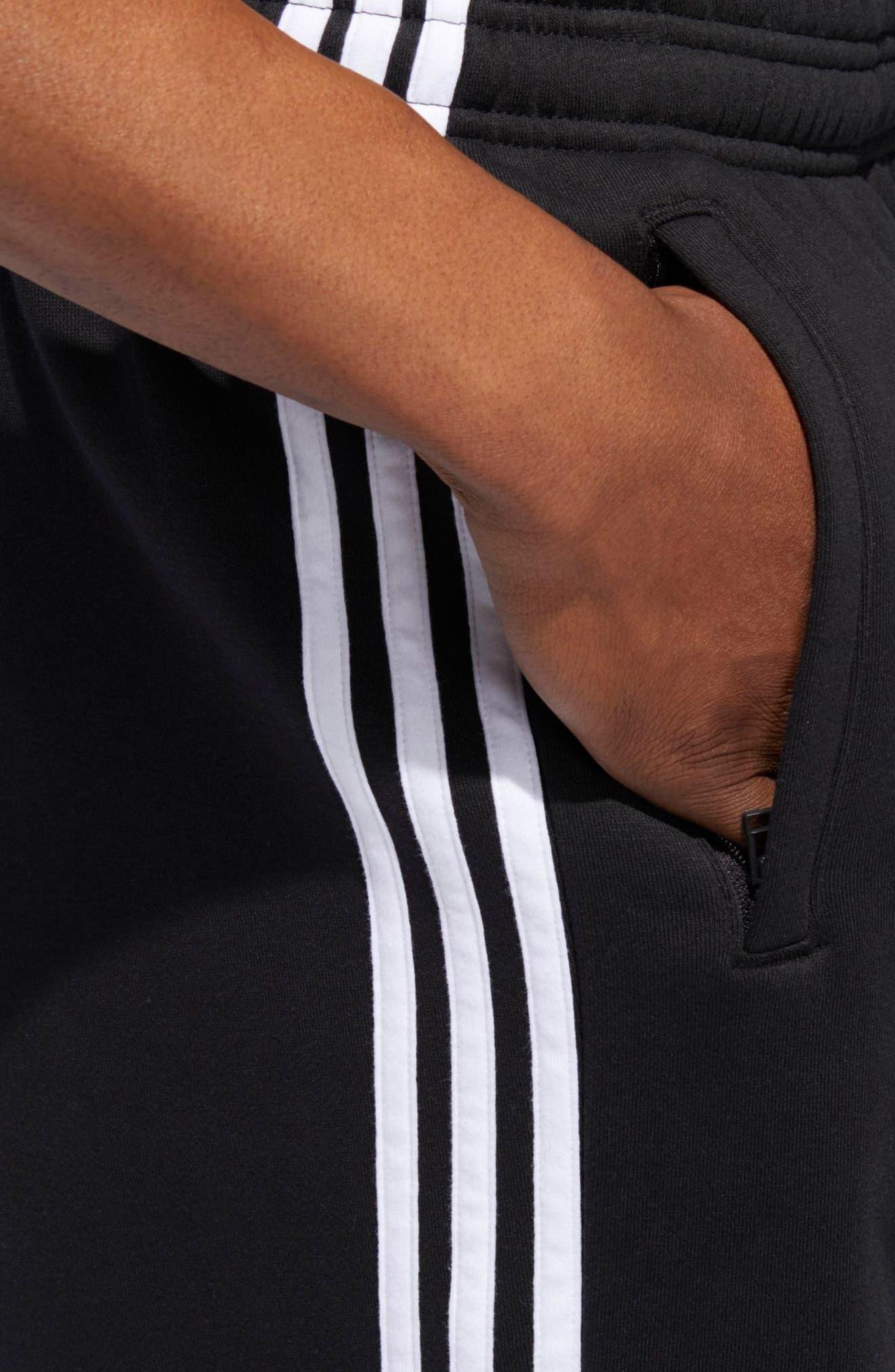 3-Stripes Shorts,                             Alternate thumbnail 4, color,                             BLACK/ WHITE