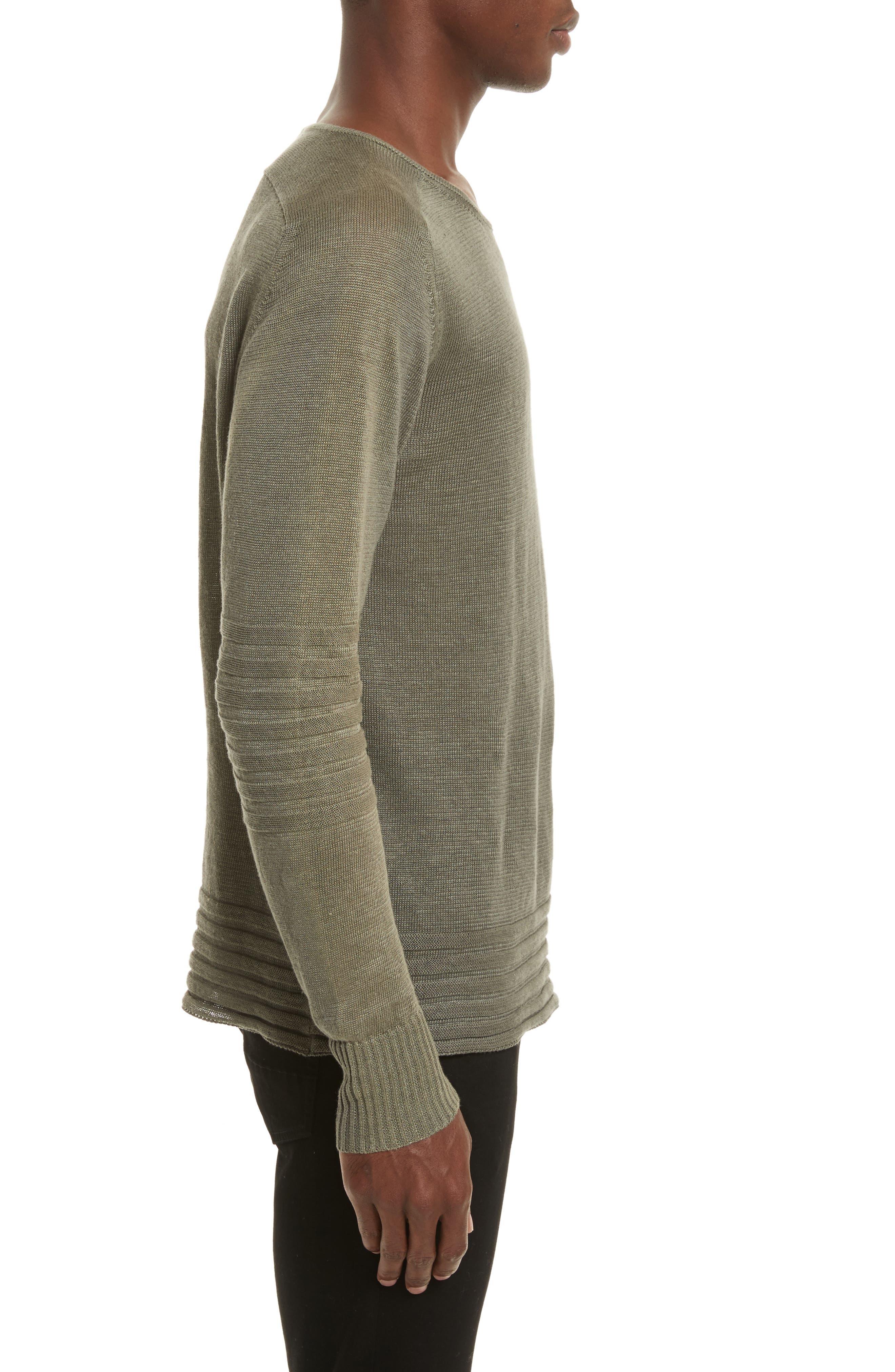 Exford Linen Crewneck Sweater,                             Alternate thumbnail 6, color,