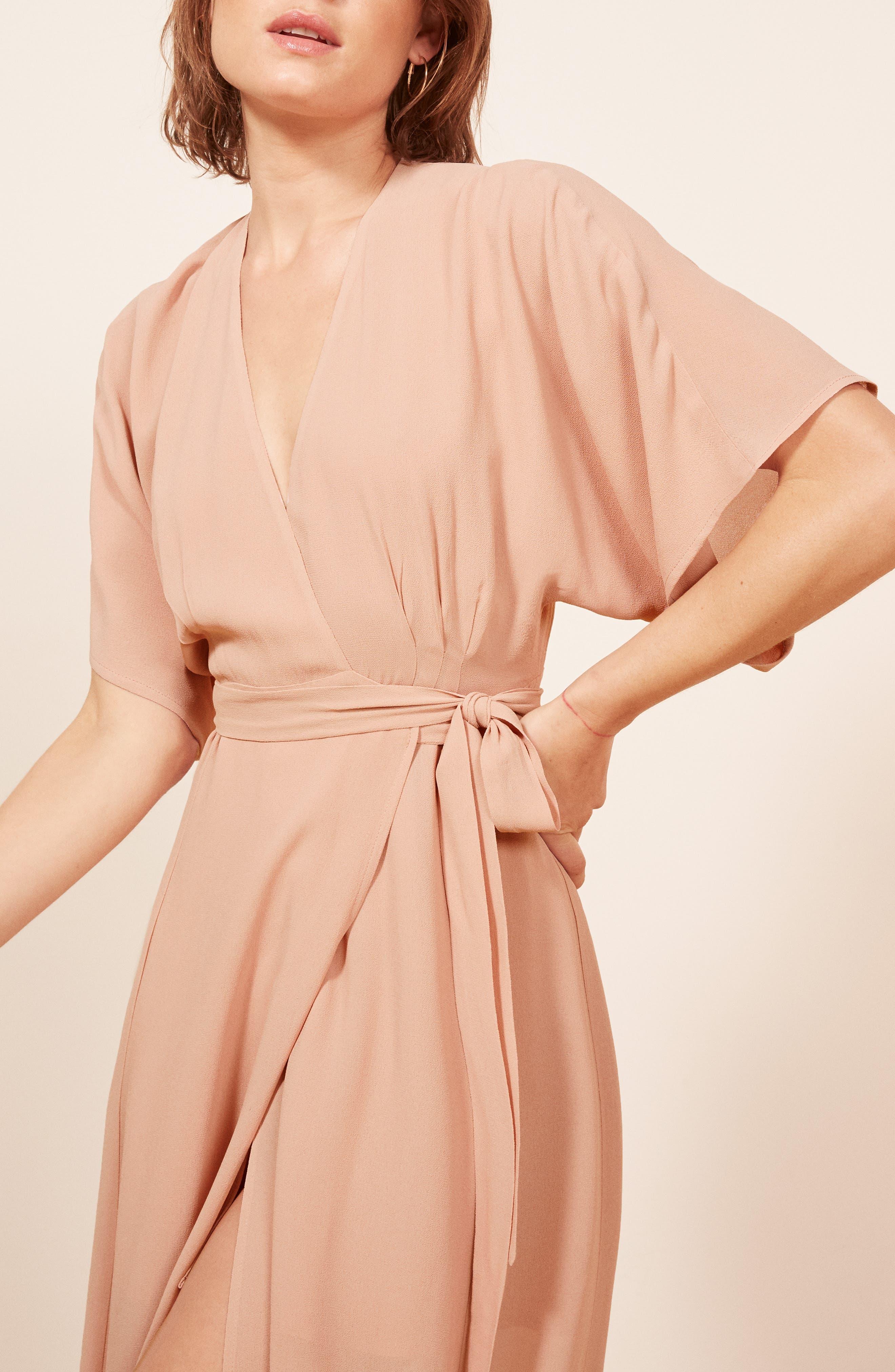 REFORMATION,                             Winslow Maxi Dress,                             Alternate thumbnail 6, color,                             BLUSH