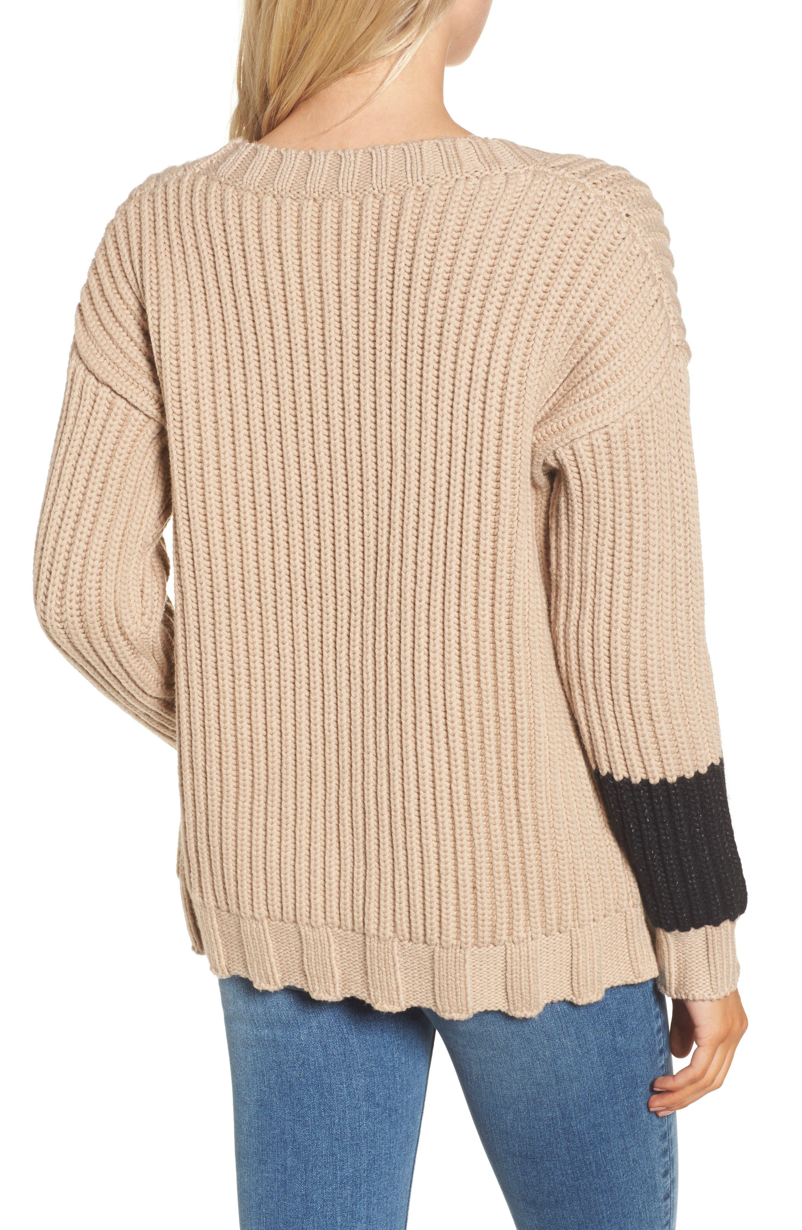 Chunky Armband Sweater,                             Alternate thumbnail 4, color,