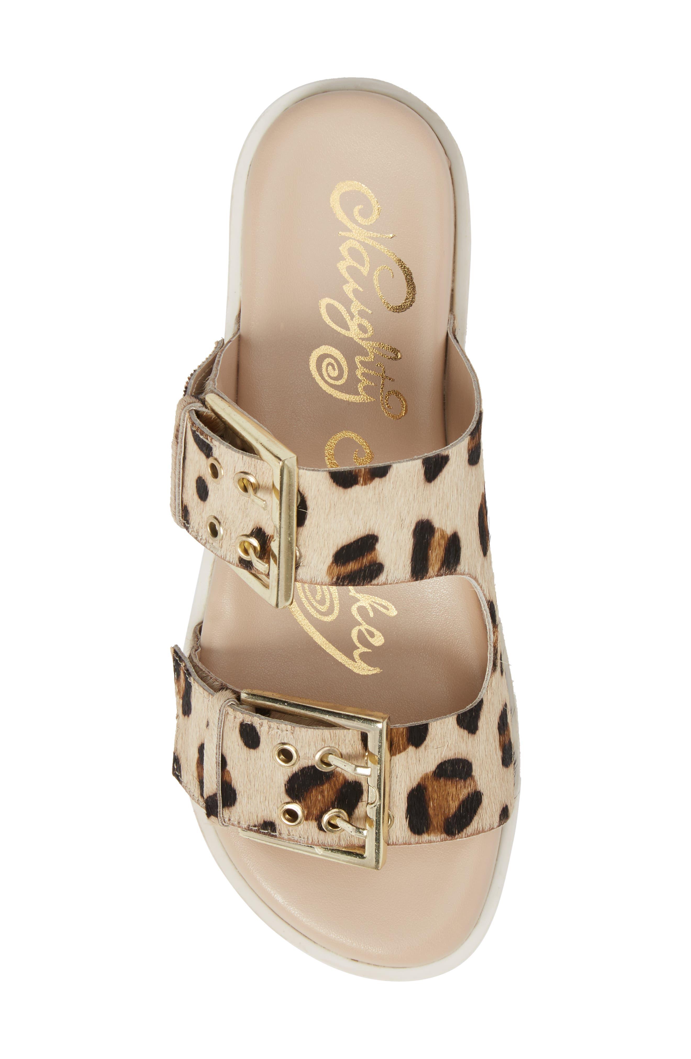 Genuine Calf Hair Double Strap Sandal,                             Alternate thumbnail 10, color,