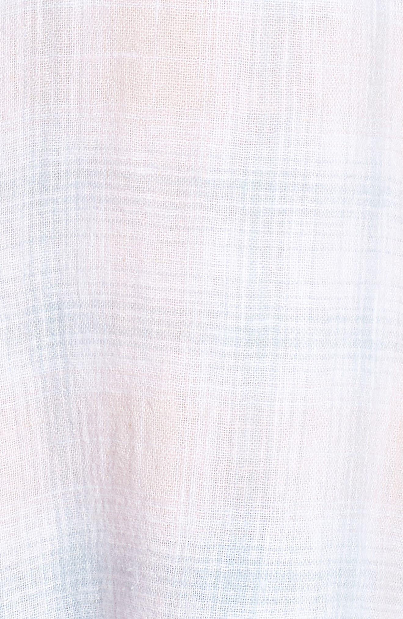 Whitney Shirt,                             Alternate thumbnail 6, color,                             WHITE BLUSH SKY