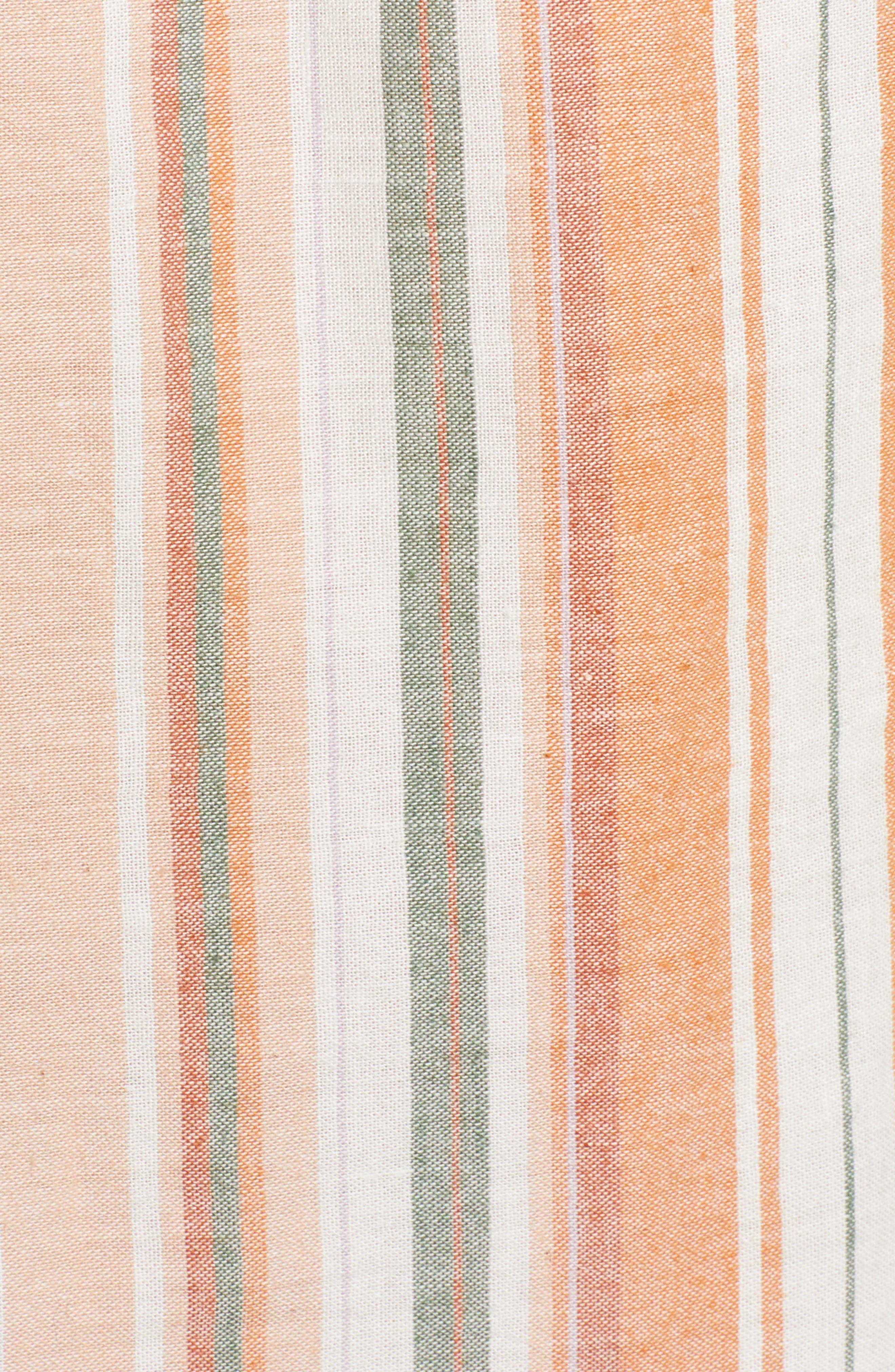 BISHOP + YOUNG,                             Sunset Stripe Off the Shoulder Dress,                             Alternate thumbnail 6, color,                             844