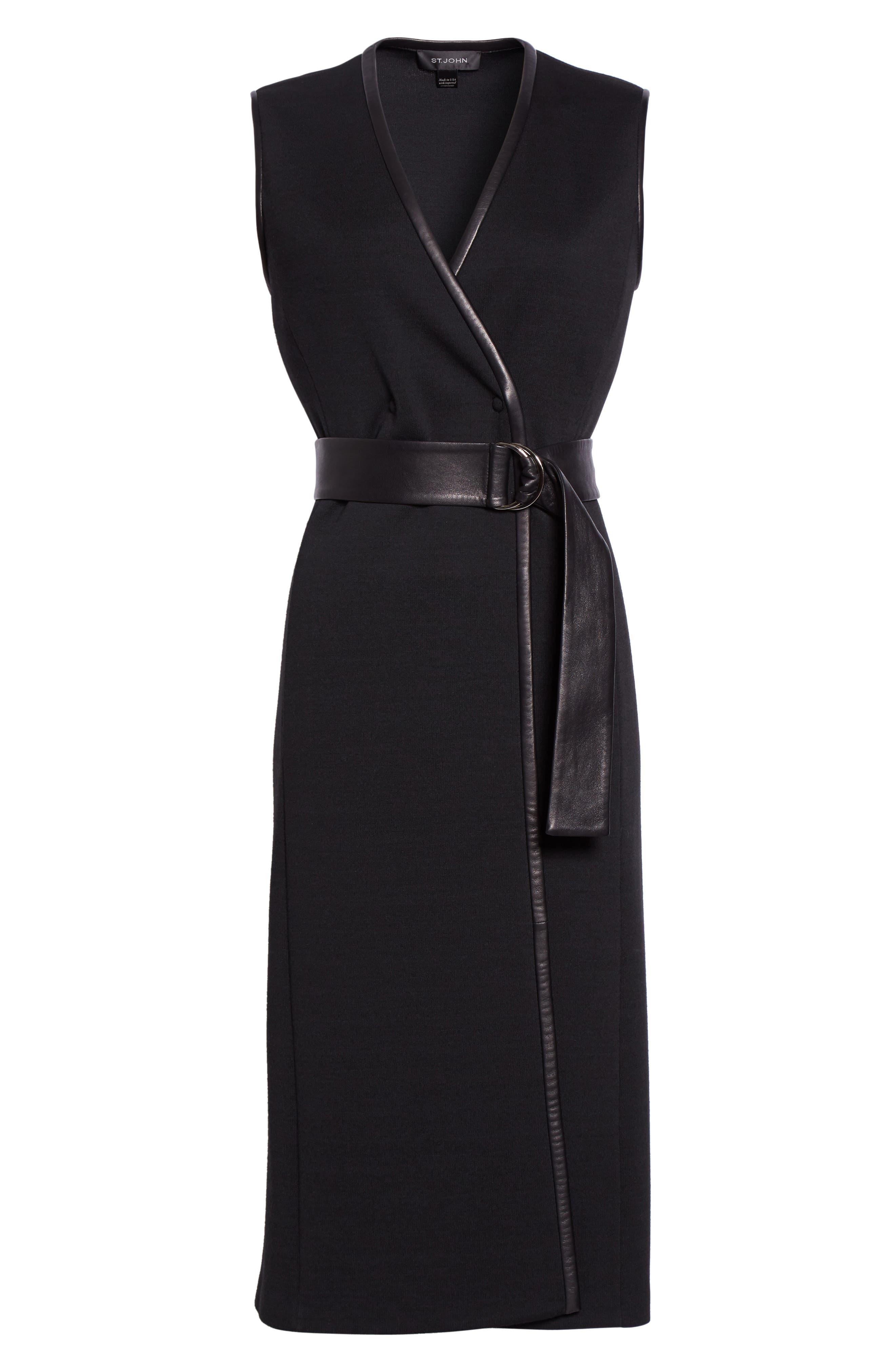Milano Knit A-Line Vest,                             Alternate thumbnail 5, color,                             001