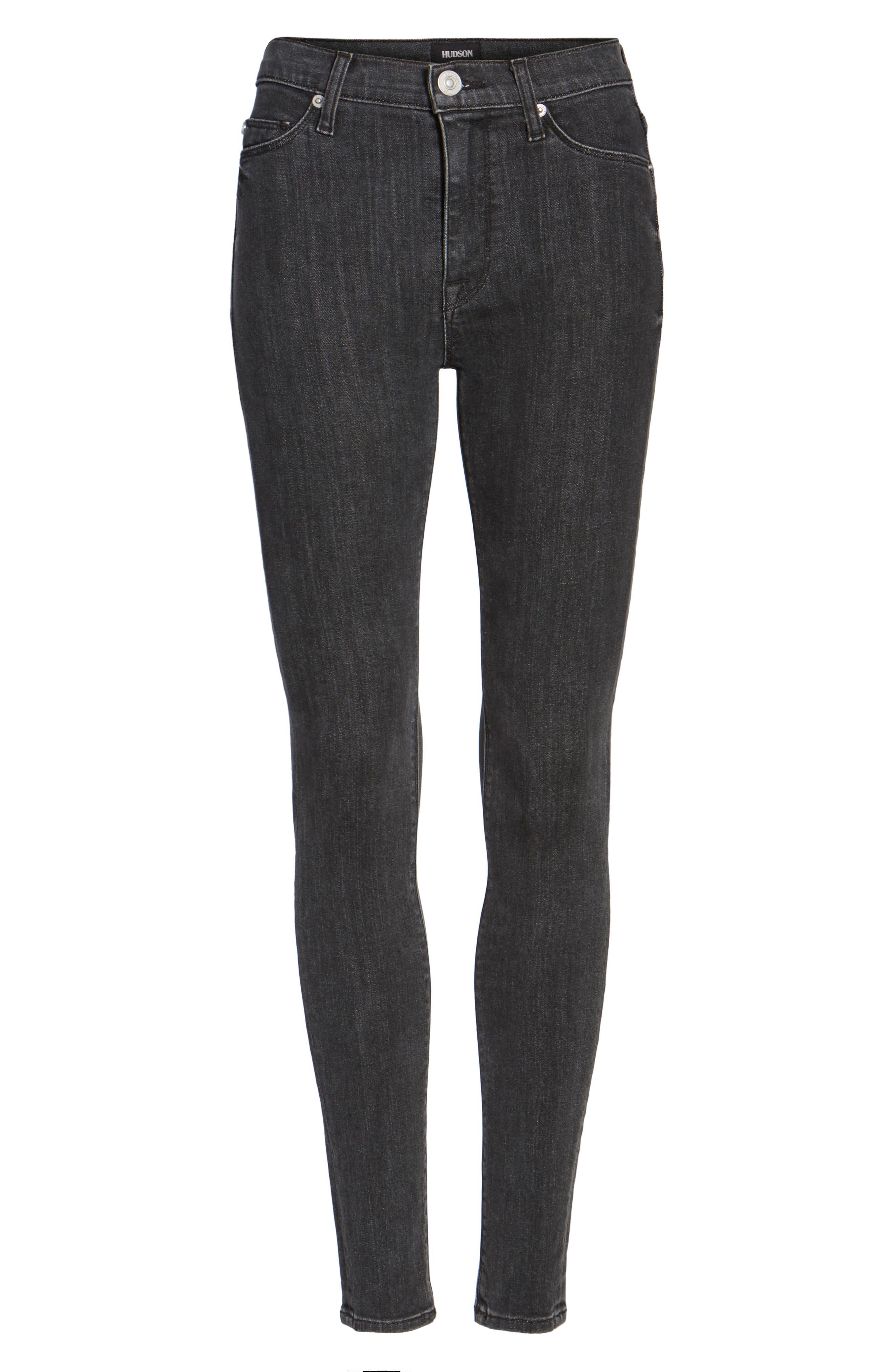 Hudson Barbara High Waist Super Skinny Jeans,                             Alternate thumbnail 6, color,                             064
