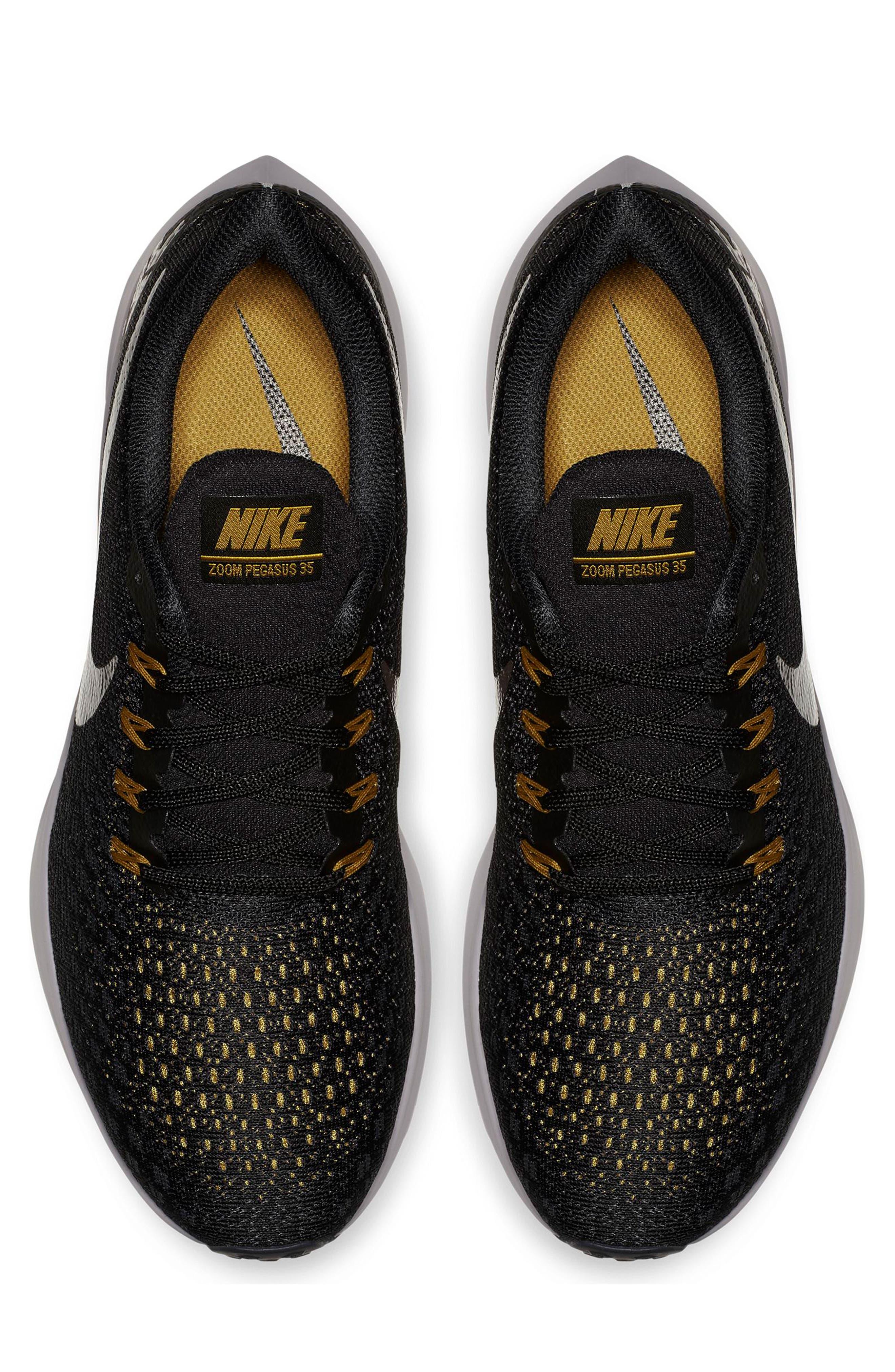 Air Zoom Pegasus 35 Running Shoe,                             Alternate thumbnail 3, color,                             BLACK/ PEWTER/ MOSS