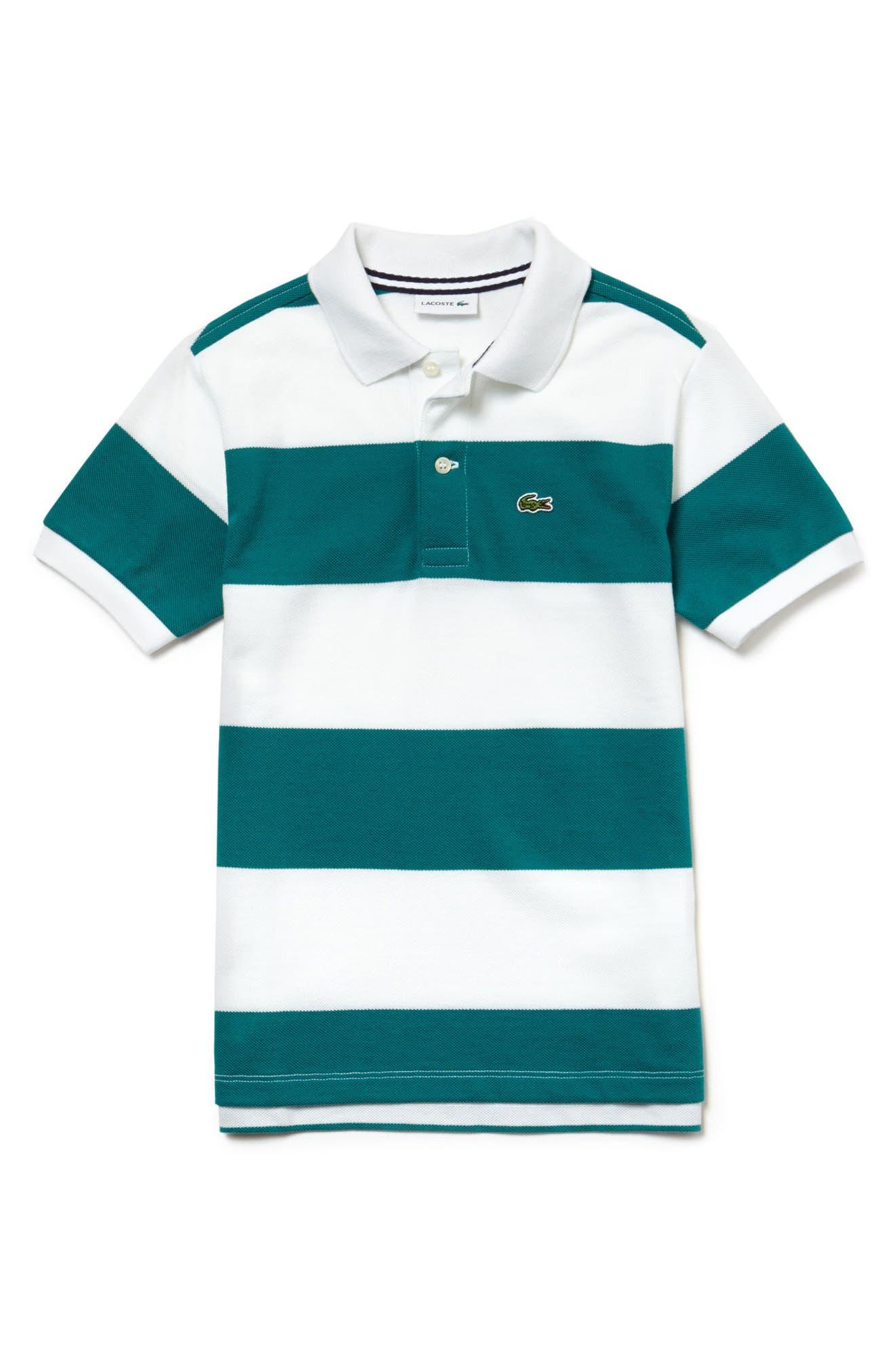 Stripe Piqué Polo,                         Main,                         color,