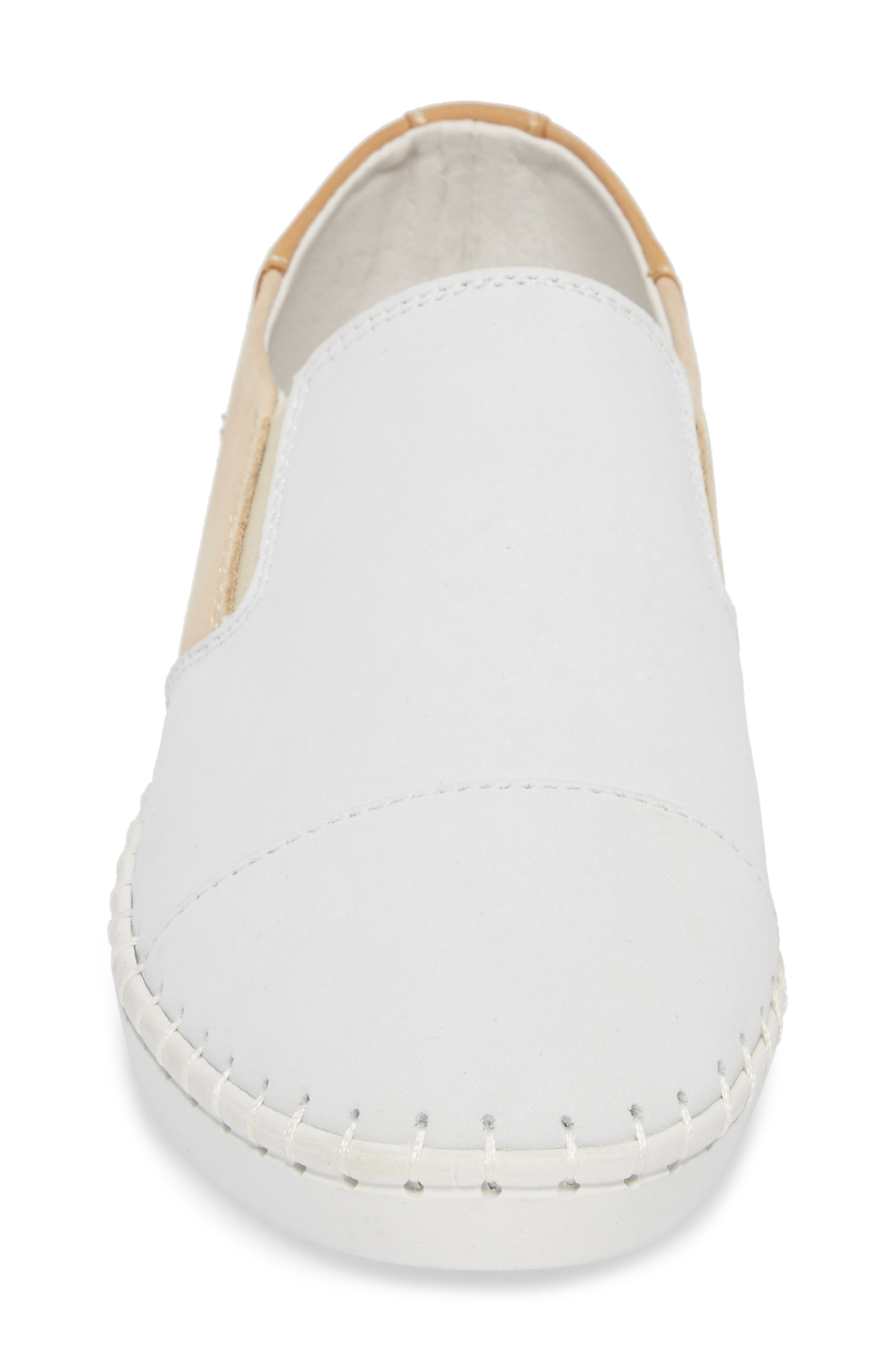 TW107 Slip-On Flat,                             Alternate thumbnail 4, color,                             NUDE MIX LEATHER