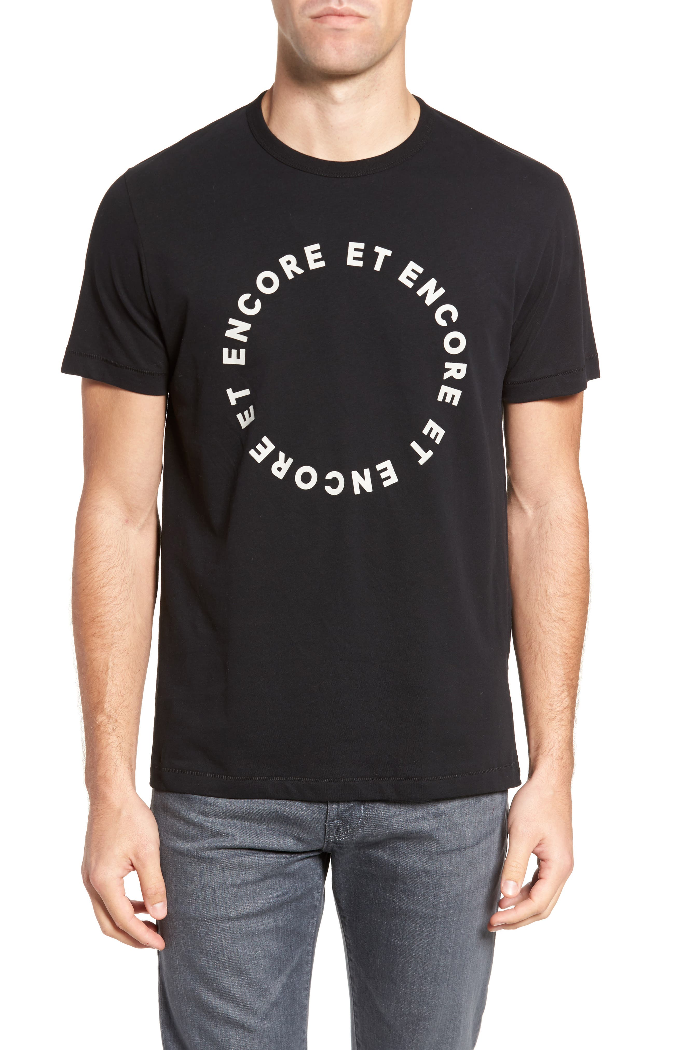 Encore Et Encore Regular Fit T-Shirt,                             Main thumbnail 1, color,                             001