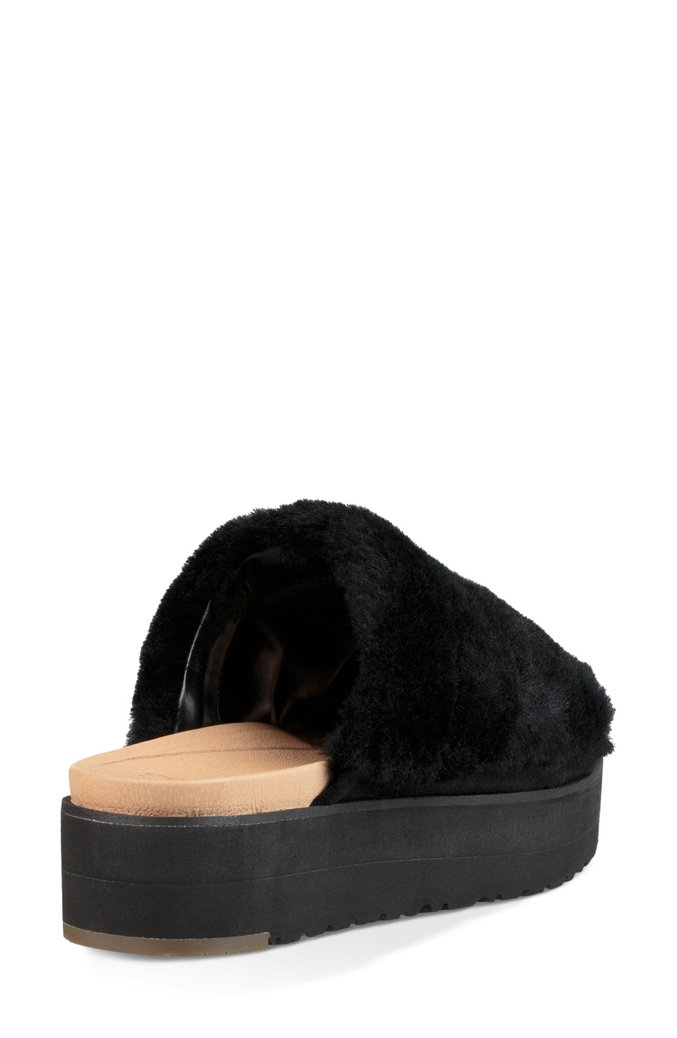 Fluff Yeah Genuine Shearling Slide Sandal,                             Alternate thumbnail 2, color,                             001