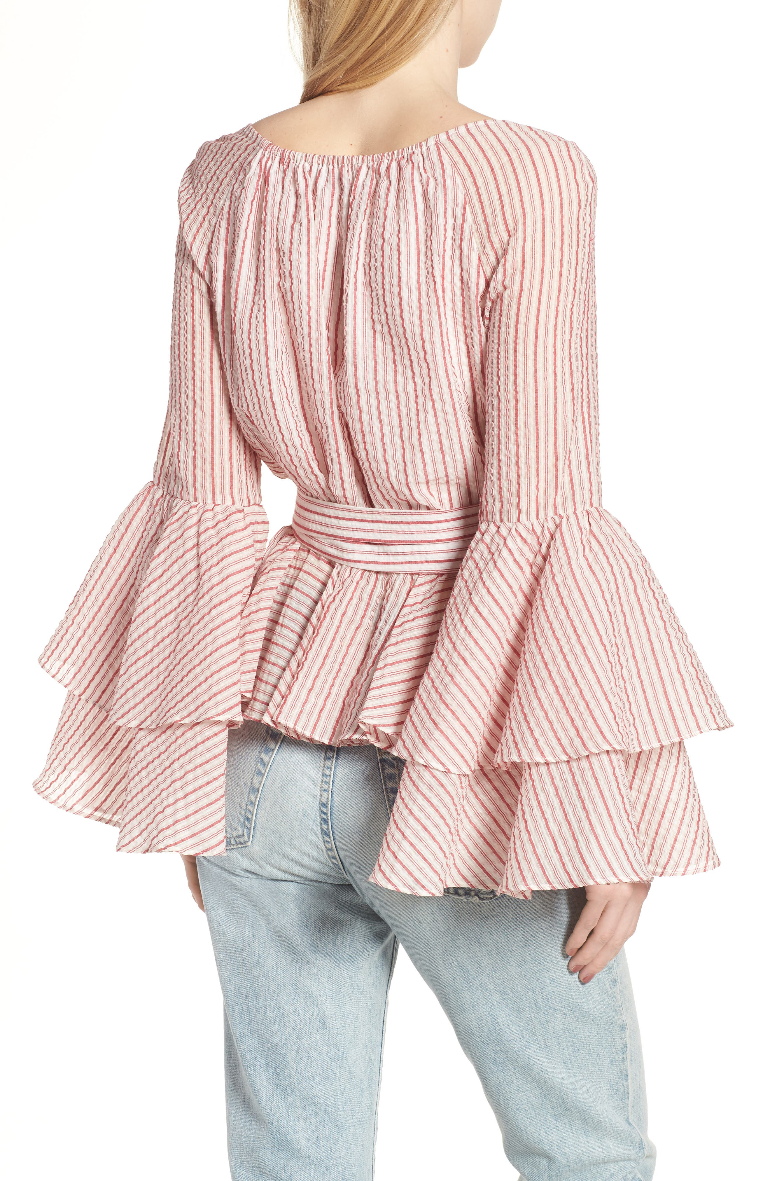 Melly Stripe Top,                             Alternate thumbnail 3, color,                             603