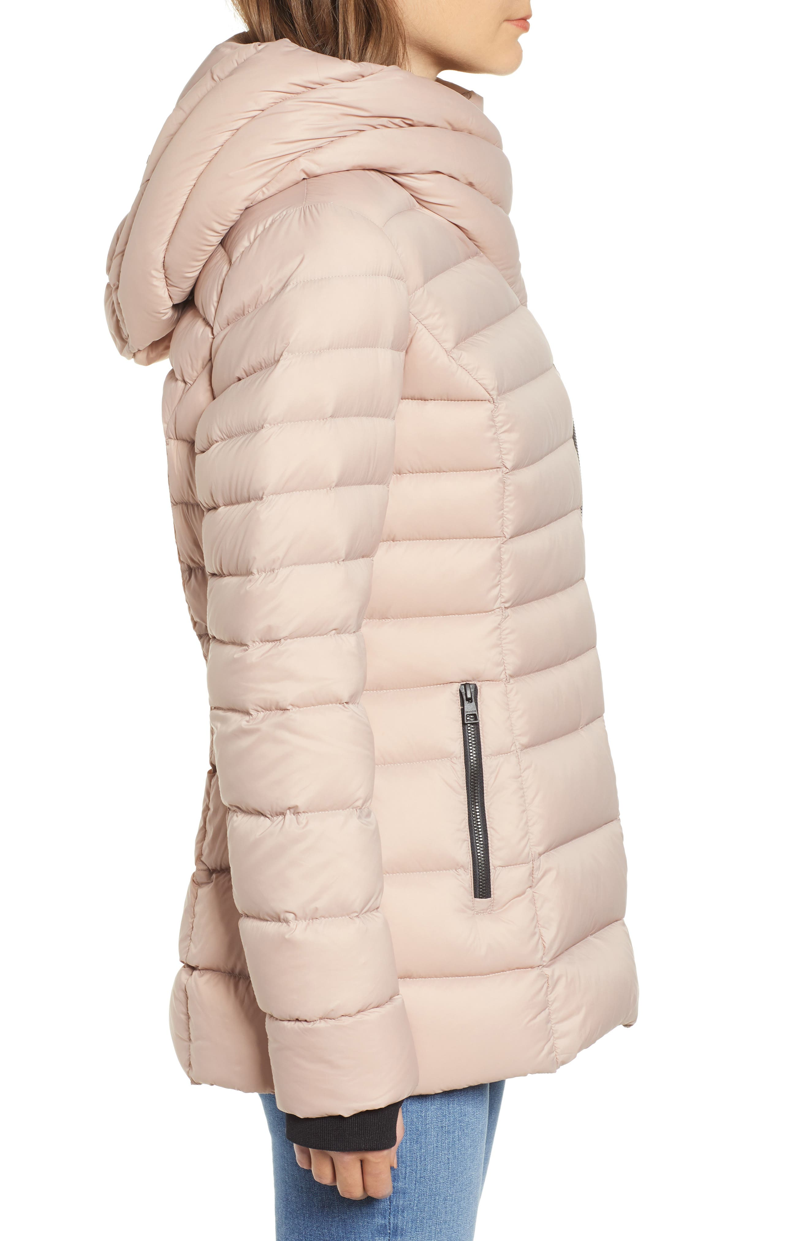 Hooded Down Puffer Jacket,                             Alternate thumbnail 3, color,                             QUARTZ