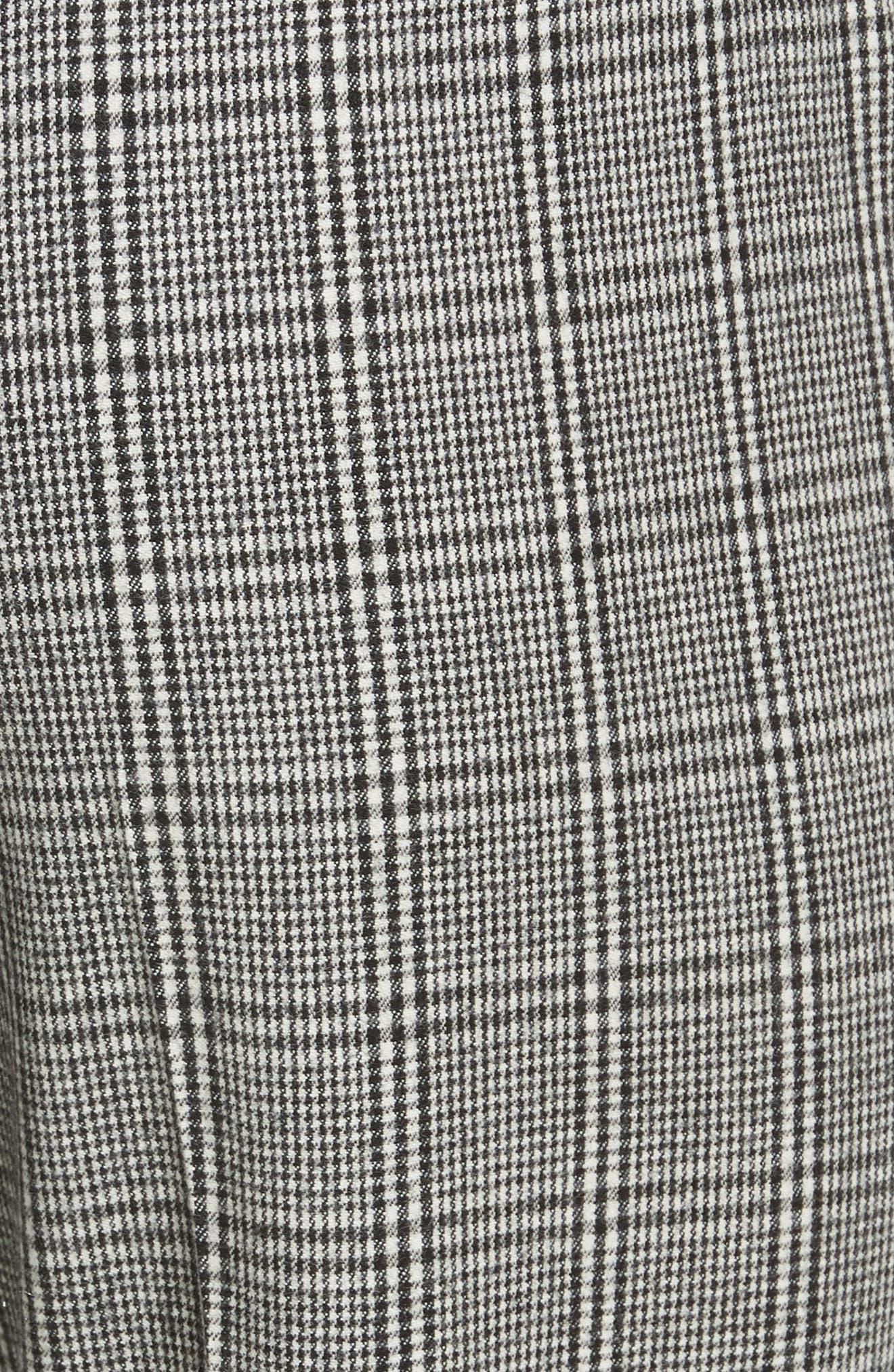 Check Crop Pants,                             Alternate thumbnail 5, color,                             BLACK- WHITE ELODIE CHECK