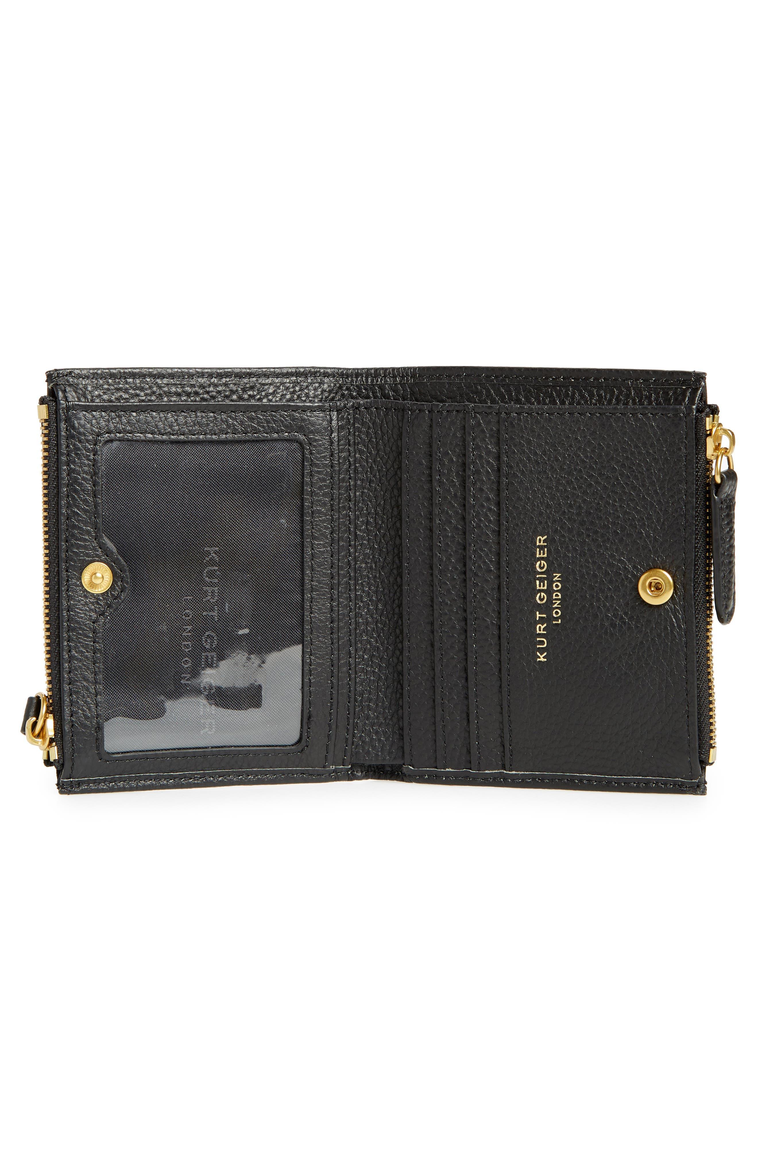 E Leather Wallet,                             Alternate thumbnail 5, color,