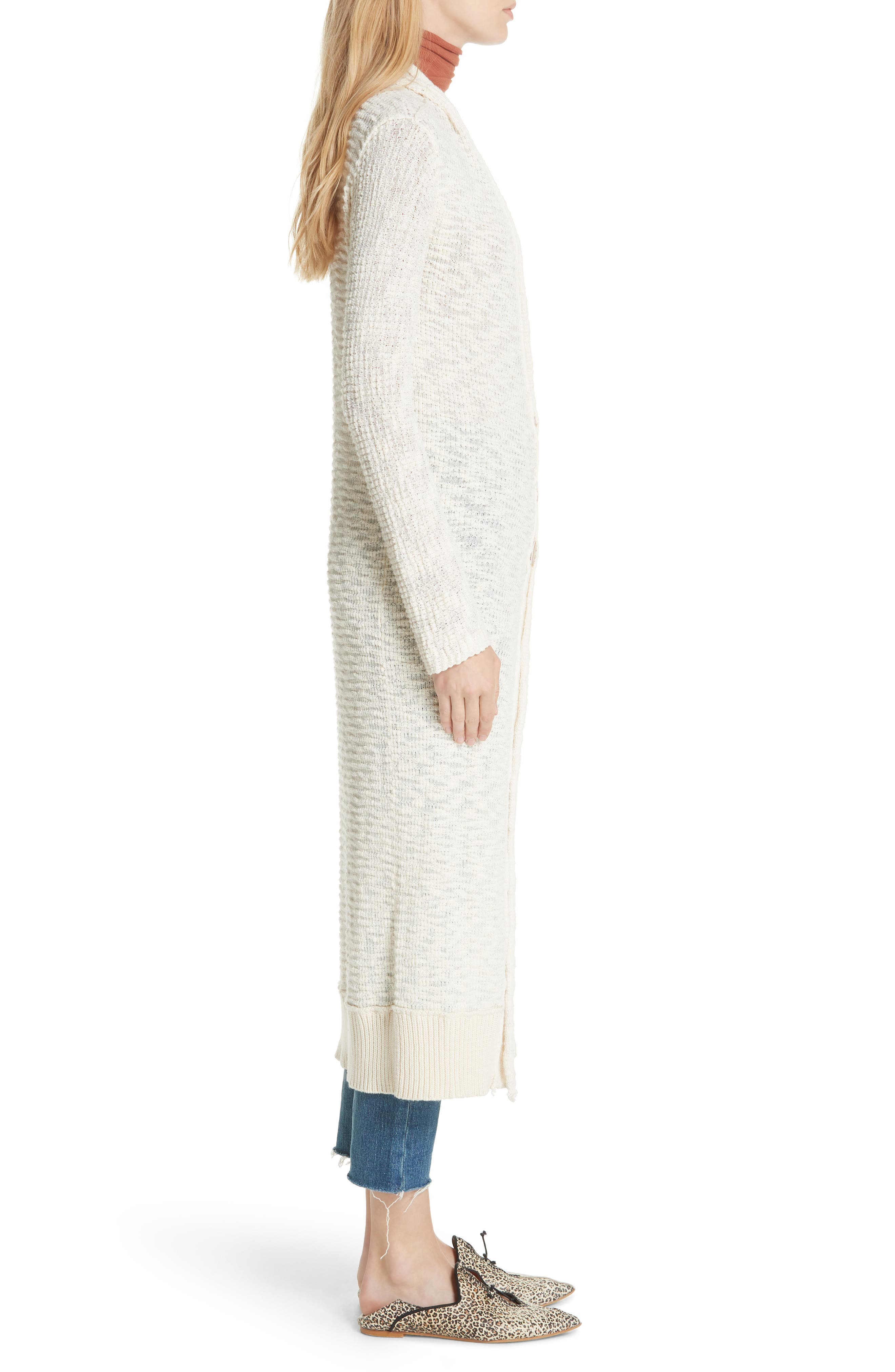 Clearwater Long Cardigan,                             Alternate thumbnail 3, color,                             IVORY