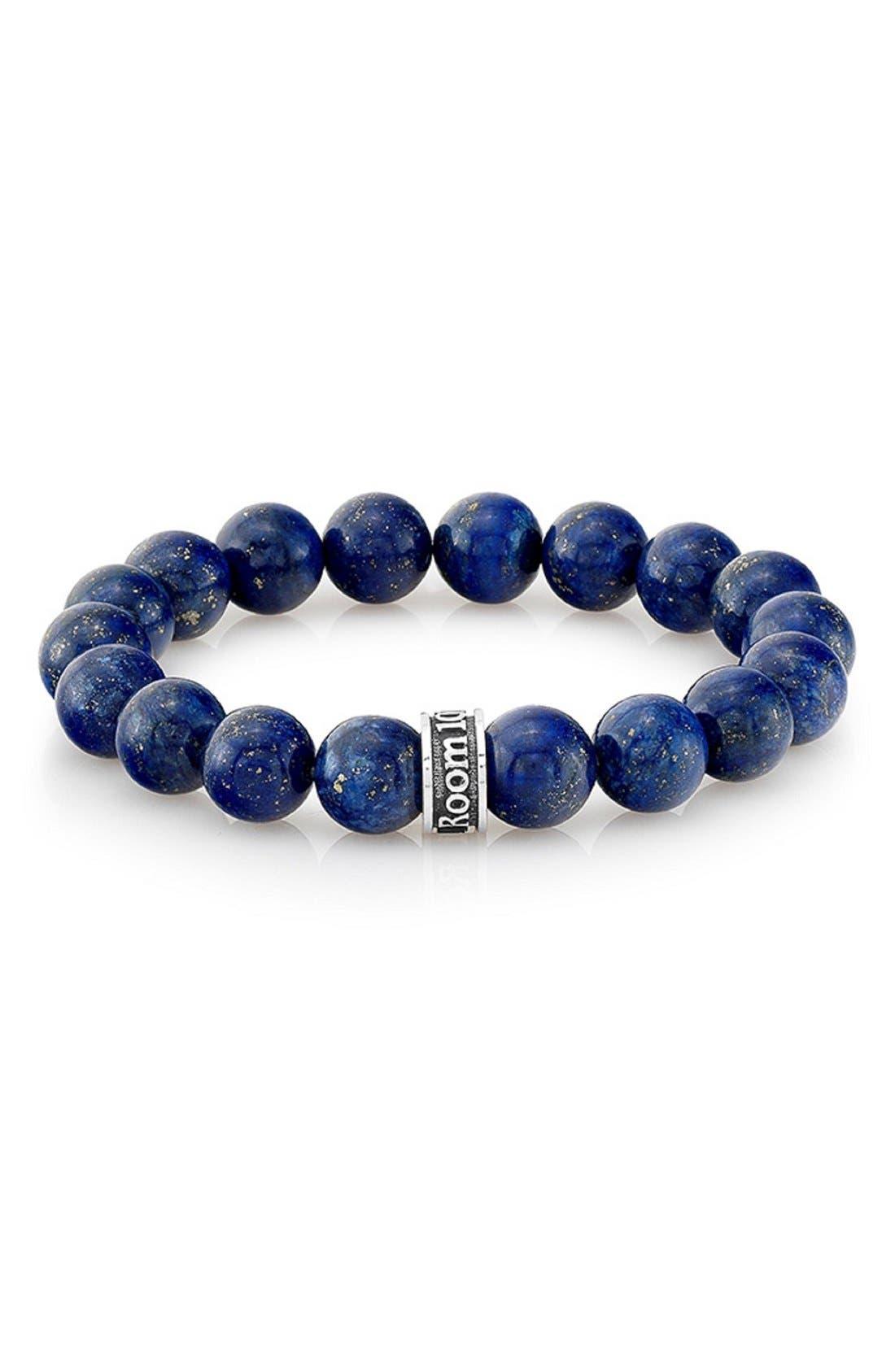 Lapis Lazuli Bead Bracelet,                             Main thumbnail 1, color,                             401