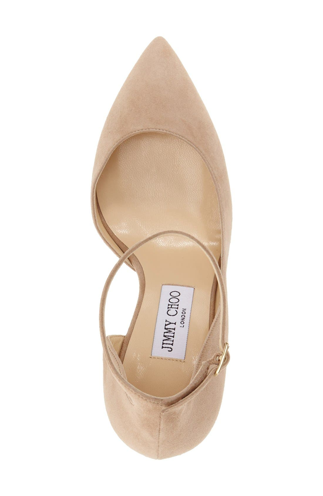 'Lucy' Half d'Orsay Pointy Toe Pump,                             Alternate thumbnail 8, color,