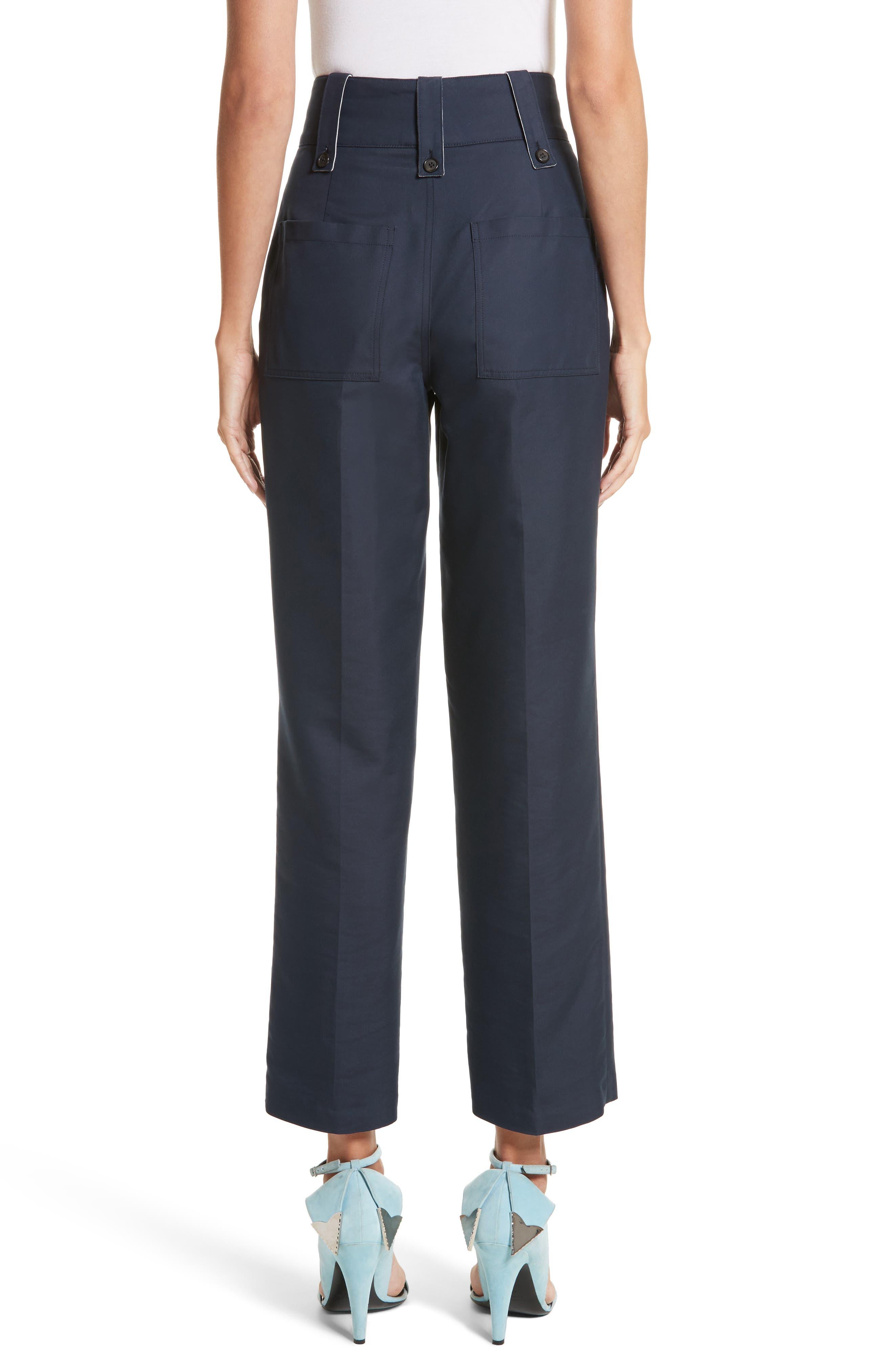 Cotton & Silk Sailor Pants,                             Alternate thumbnail 2, color,                             416