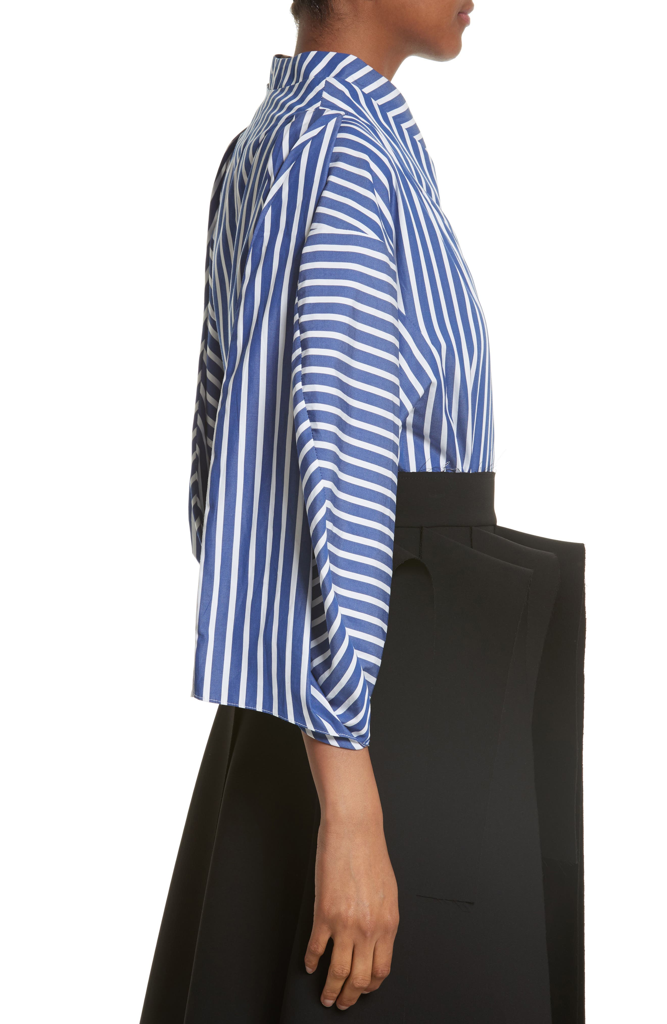 Twisted Sleeve Blouse,                             Alternate thumbnail 3, color,                             400