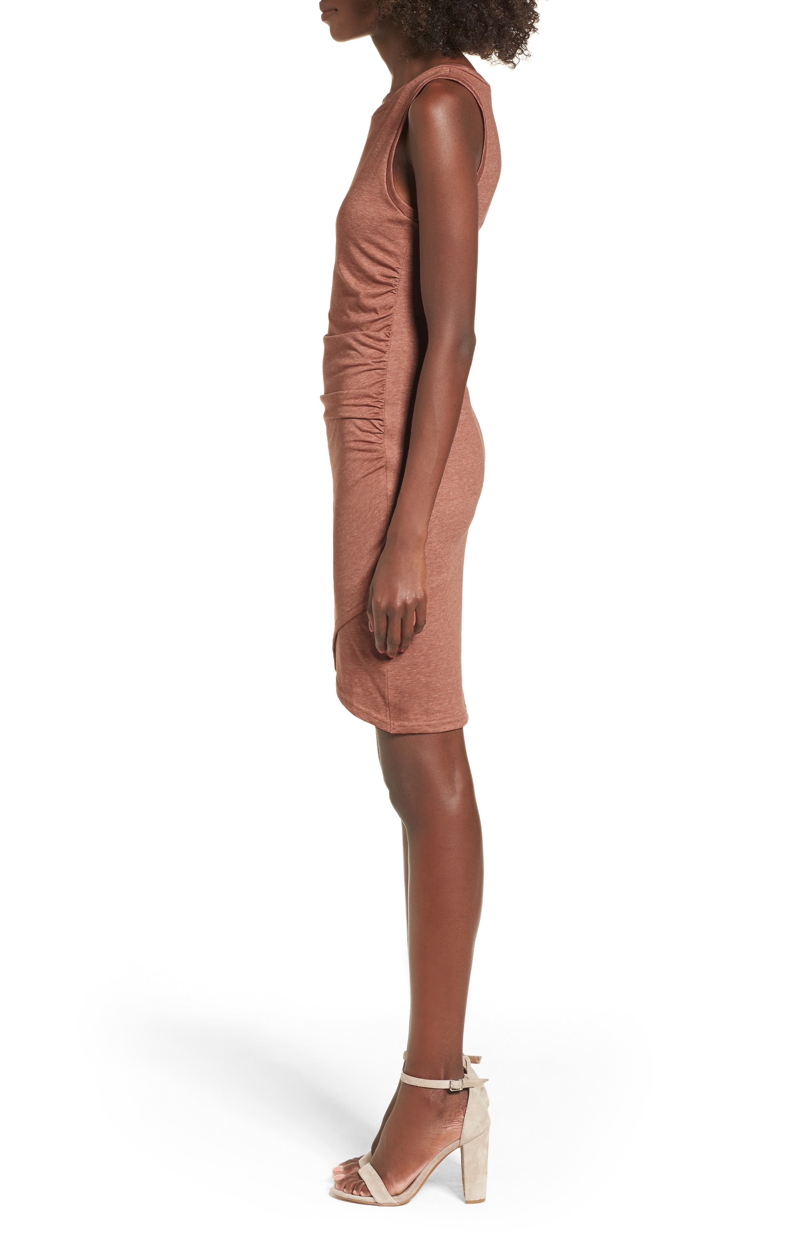 Ruched Body-Con Tank Dress,                             Alternate thumbnail 106, color,