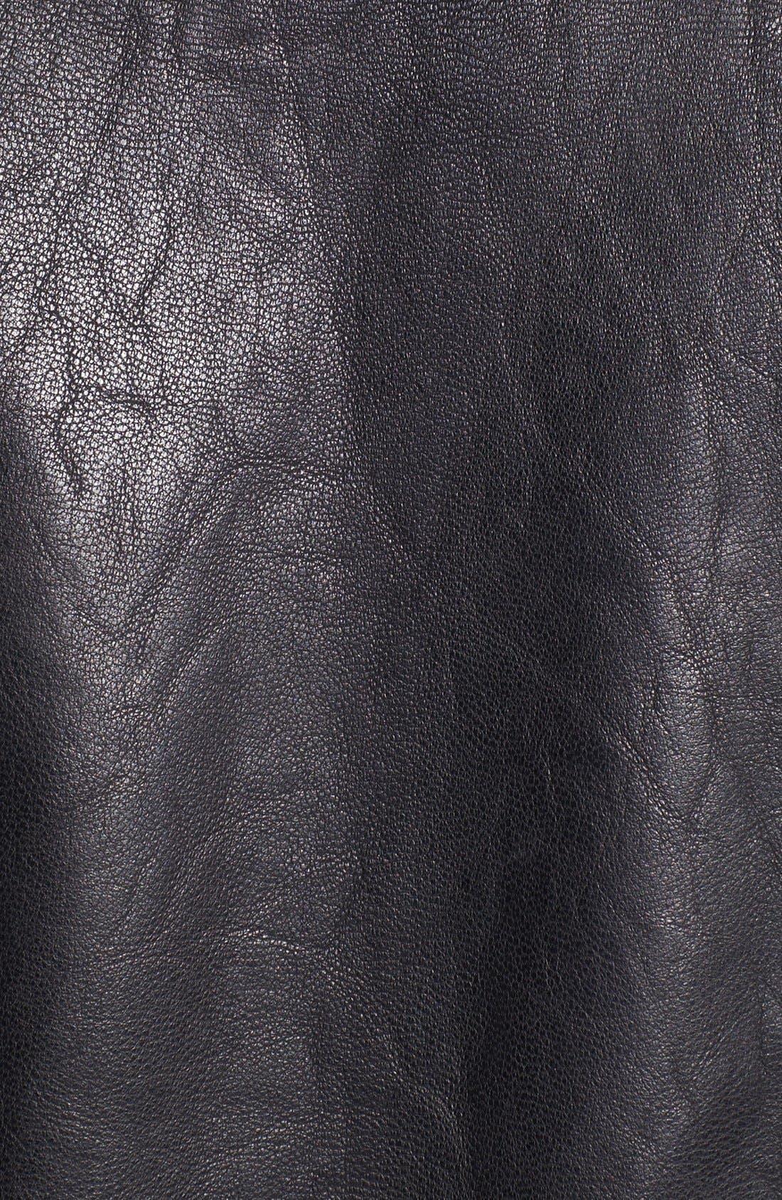 LEVI'S<SUP>®</SUP>,                             Leather Bomber Jacket,                             Alternate thumbnail 2, color,                             001