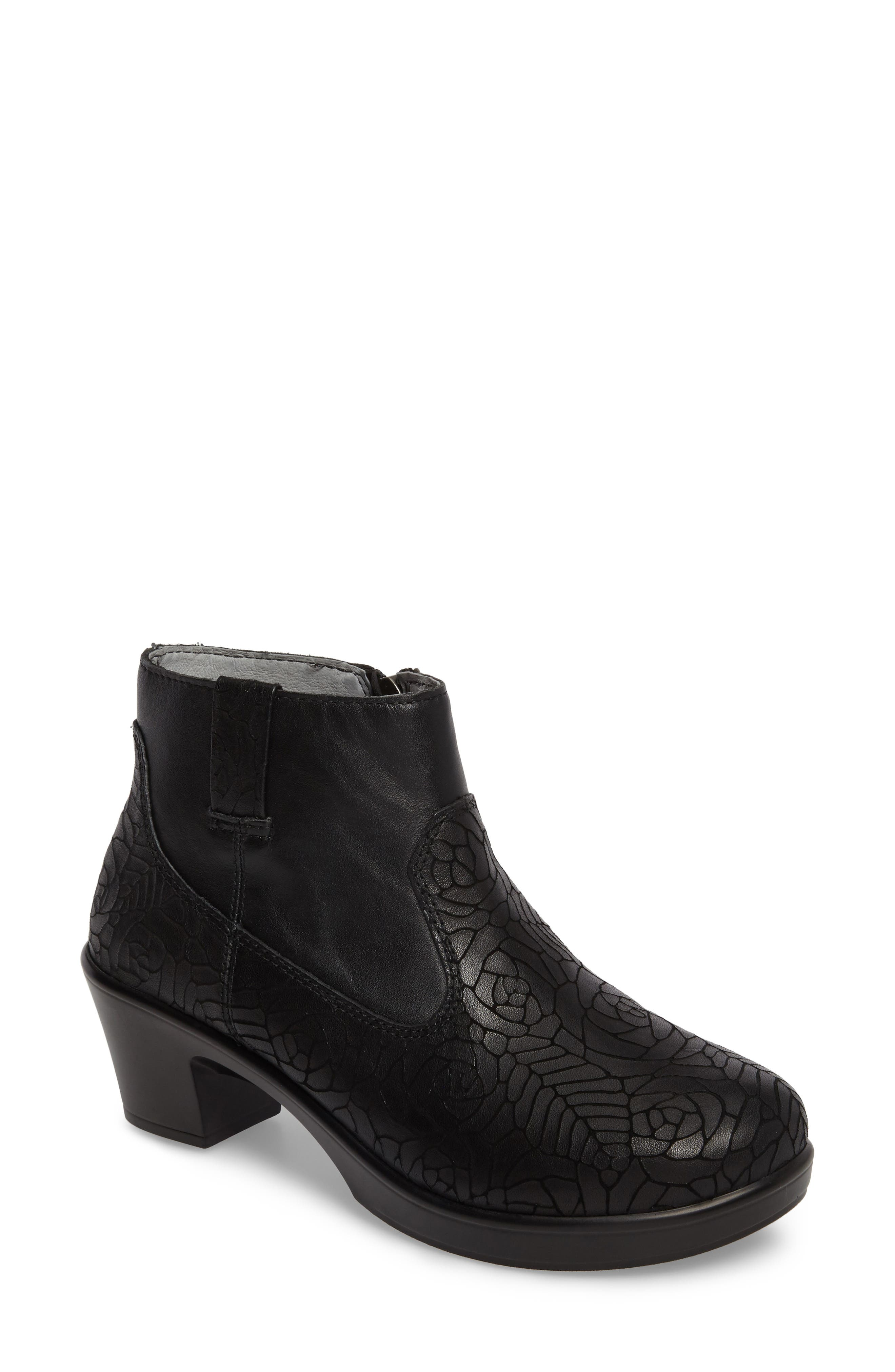Hayden Bootie,                             Main thumbnail 1, color,                             FLORAL NOTES LEATHER