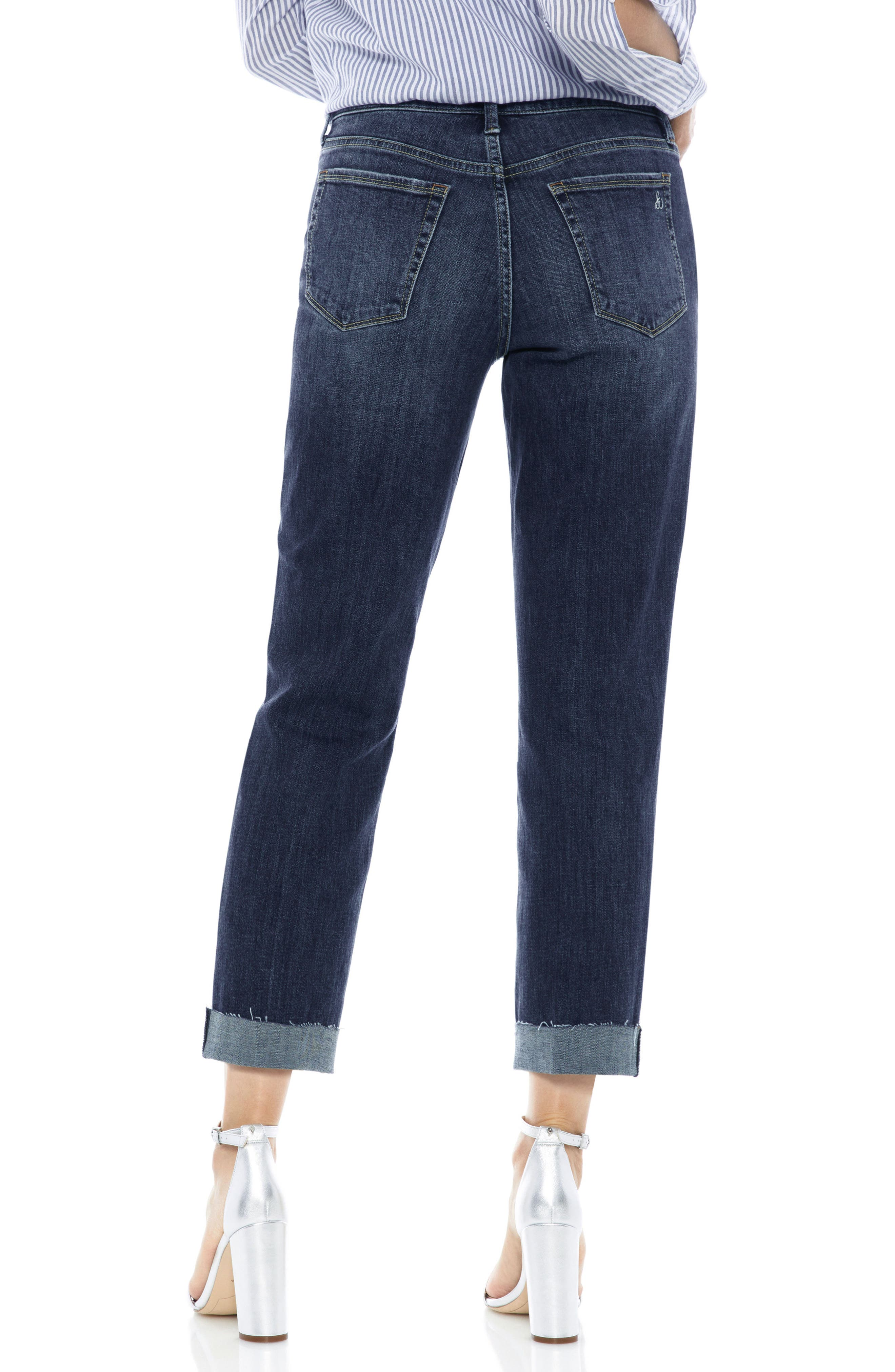 The Mary Jane Cuffed Raw Edge Jeans,                             Alternate thumbnail 2, color,                             401