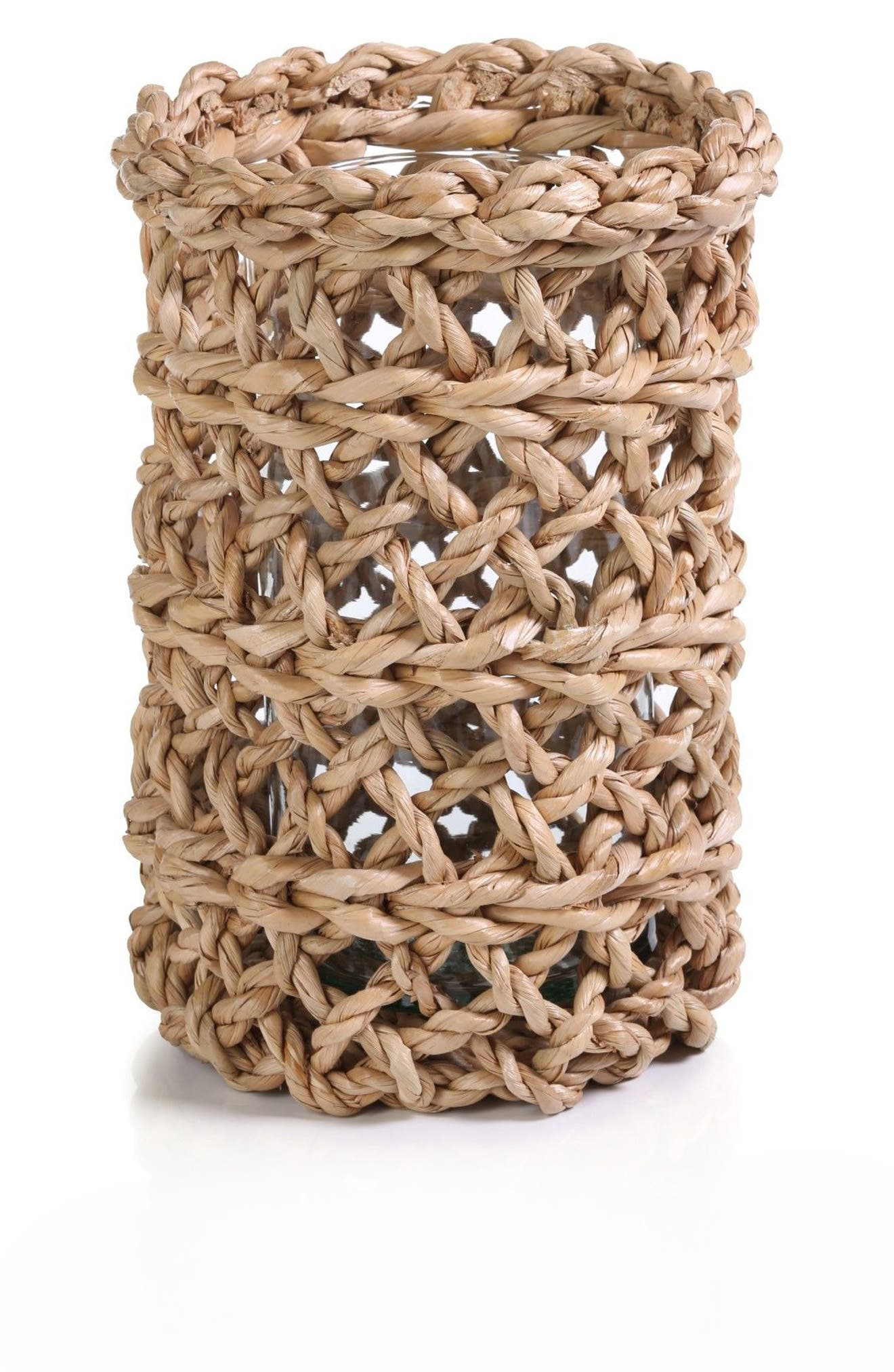 Seagrass Hurricane Candle Holder,                         Main,                         color, LIGHT BROWN