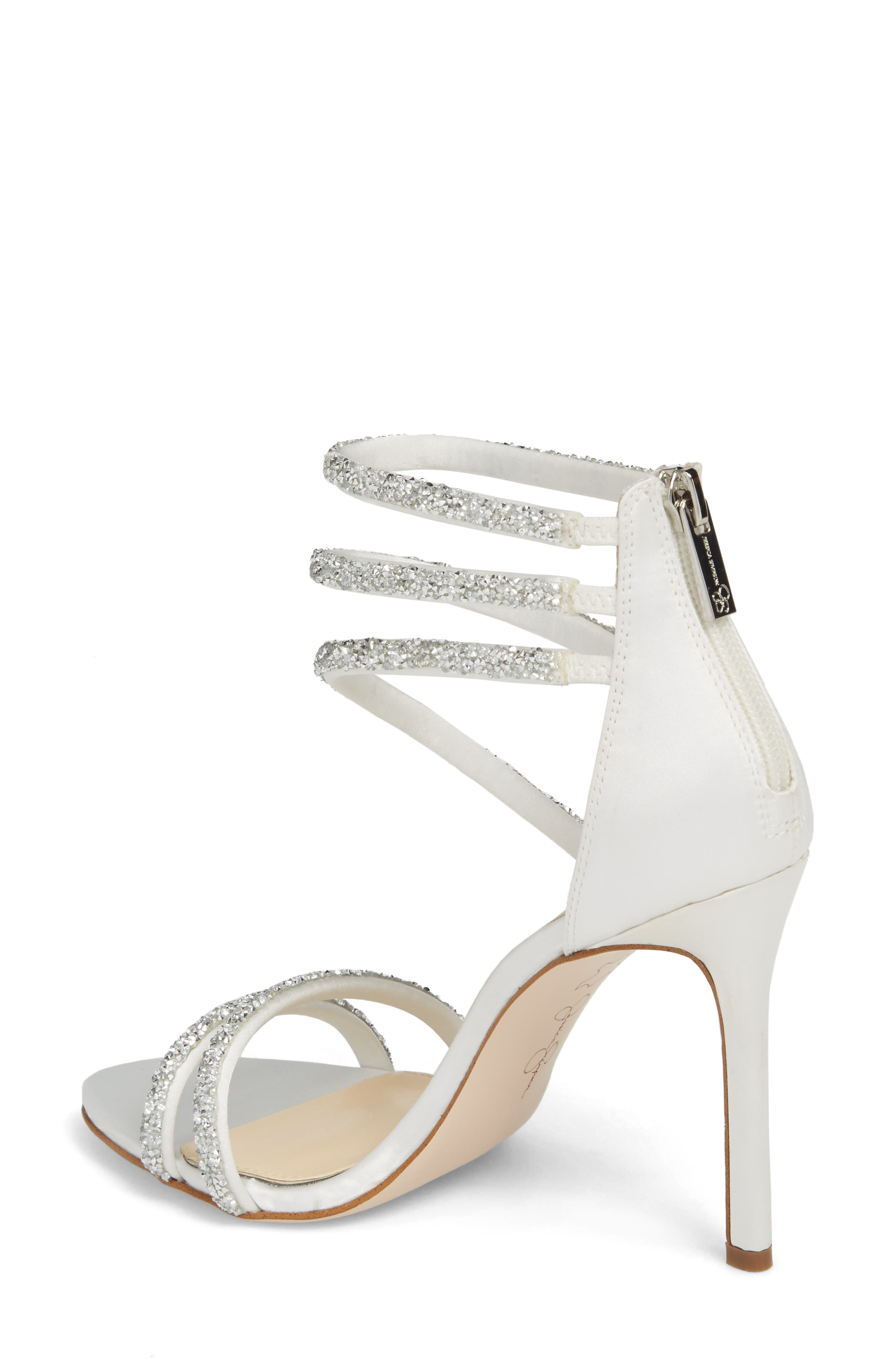 Jamalee Glitter Sandal,                             Alternate thumbnail 2, color,                             WHITE