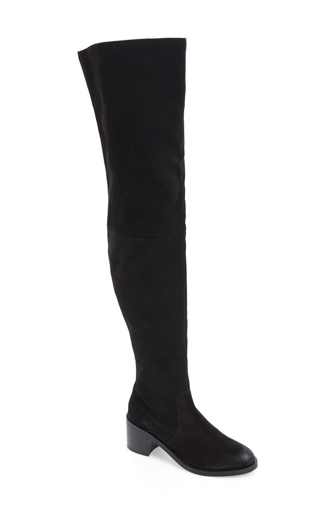 'Sardonyx' Thigh High Boot,                             Main thumbnail 1, color,                             001