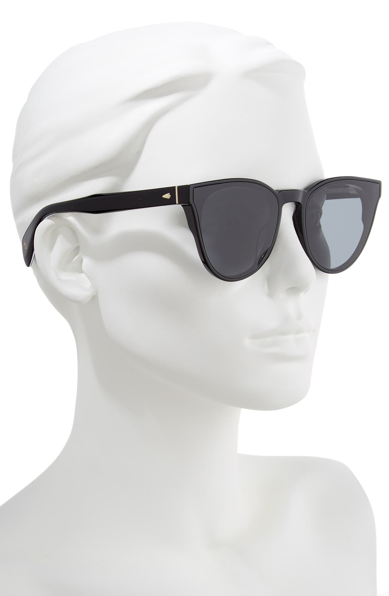 61mm Cat Eye Sunglasses,                             Alternate thumbnail 2, color,                             BLACK