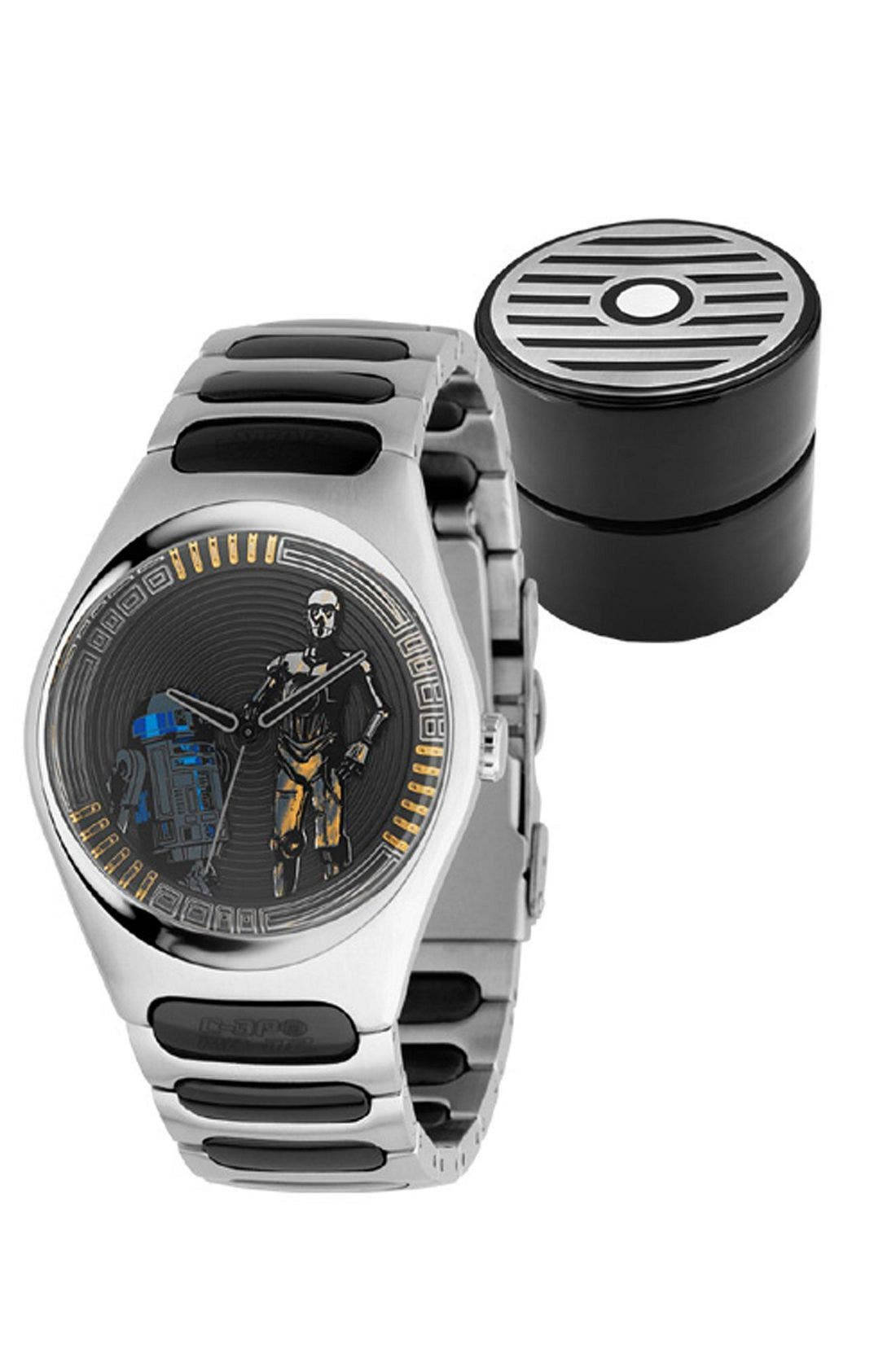 Star Wars<sup>™</sup> Limited Edition 'Droids' Watch,                             Main thumbnail 1, color,                             BLK