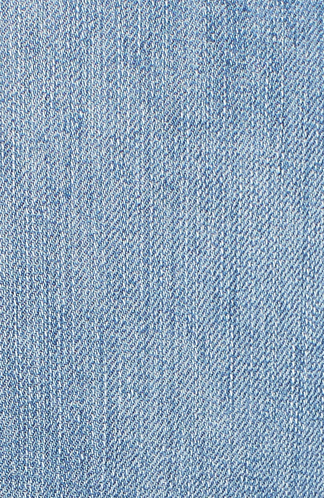 Good Legs Released Hem Skinny Jeans,                             Alternate thumbnail 5, color,                             401