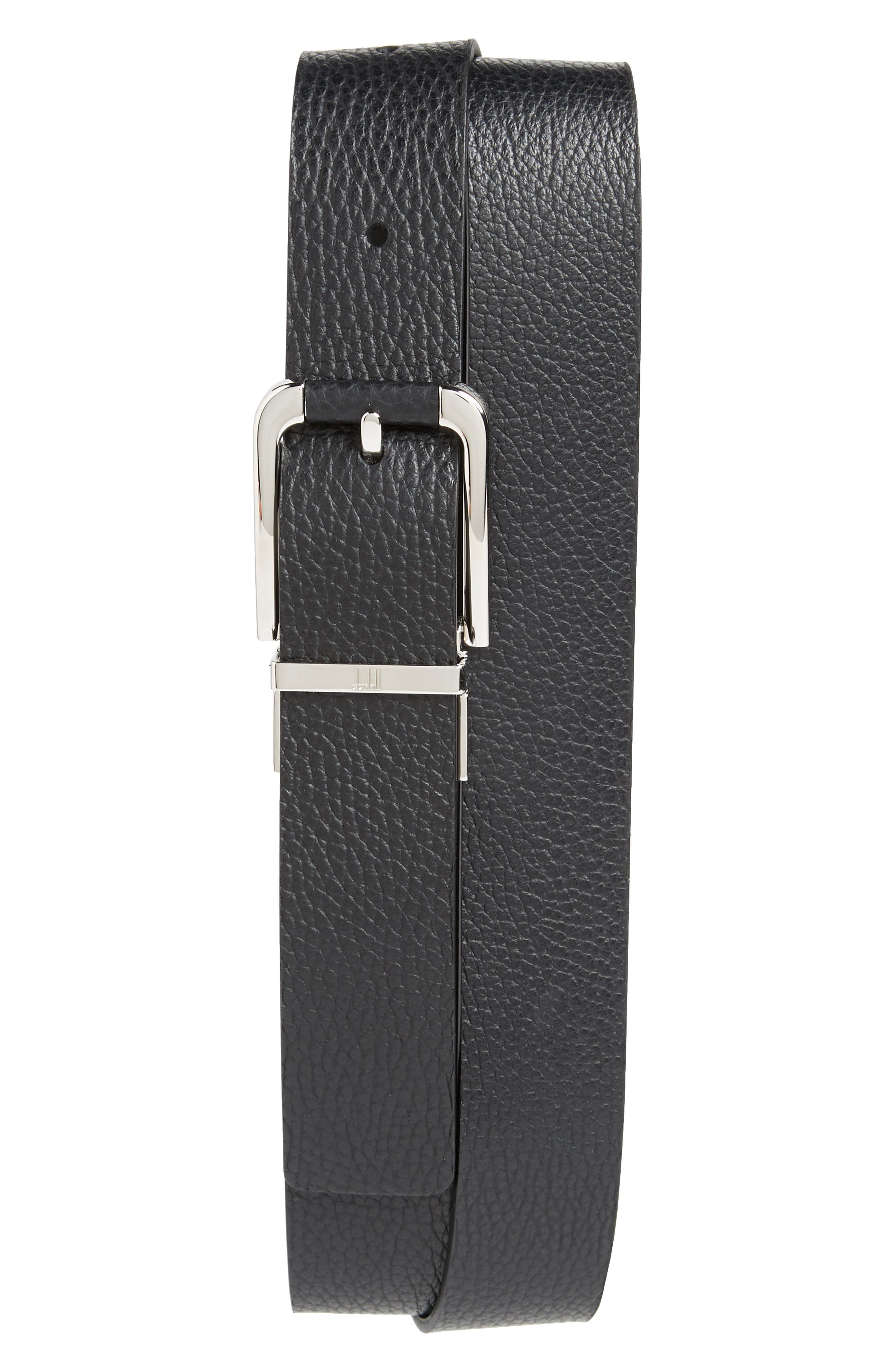 Avorities Grain Leather Belt,                         Main,                         color, BLACK