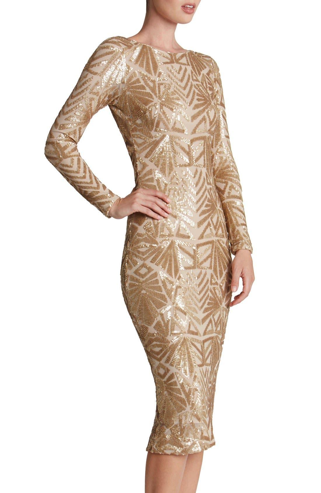 Emery Midi Dress,                             Alternate thumbnail 27, color,