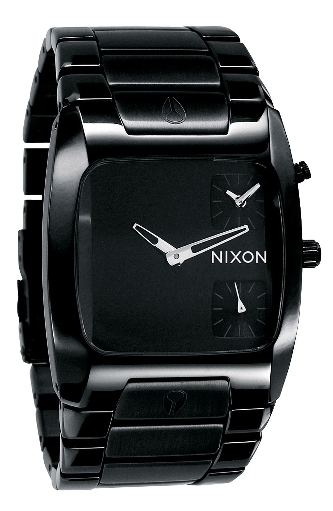 'The Banks' Men's Dual Time Watch, Main, color, 001