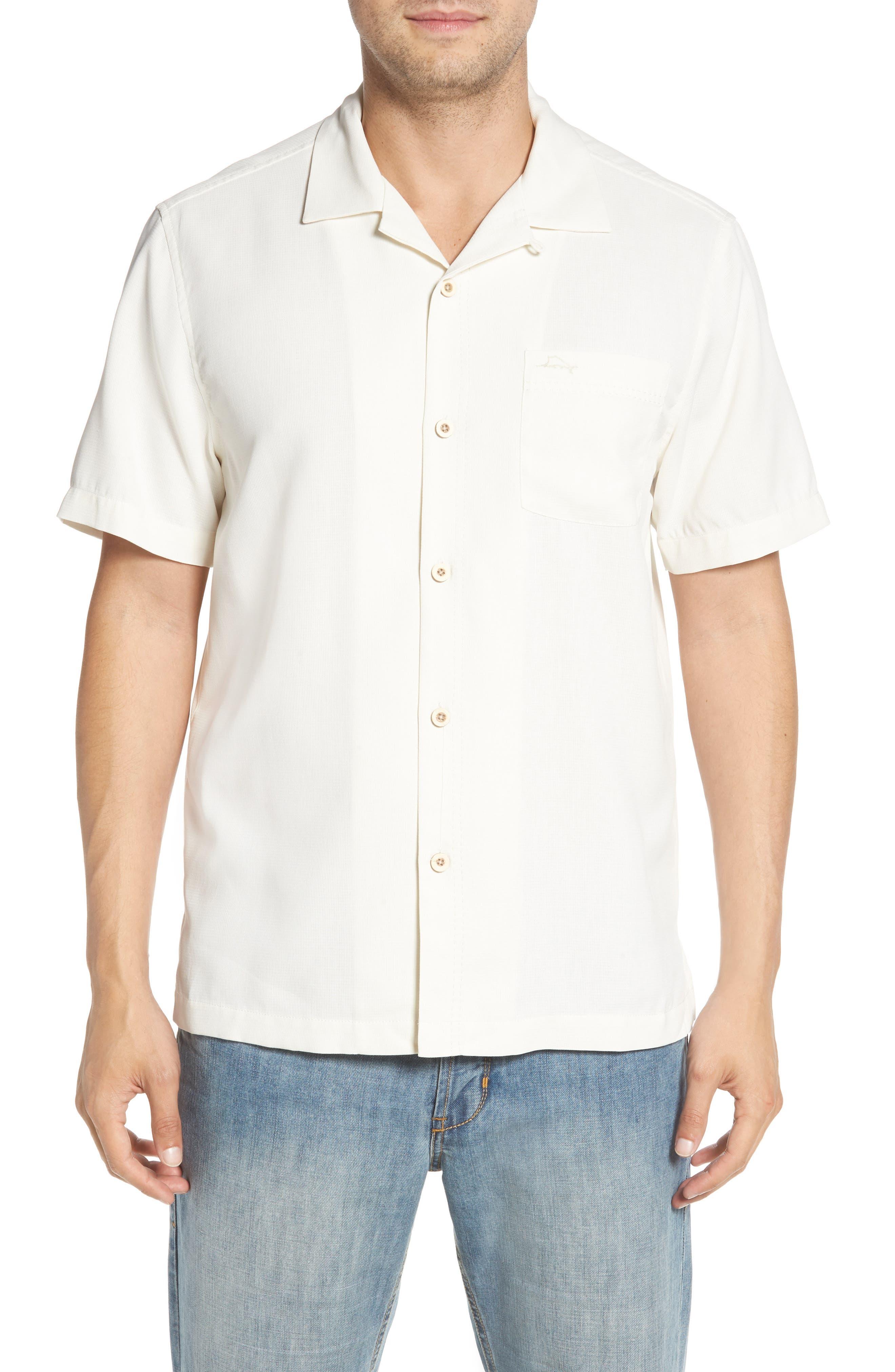 TOMMY BAHAMA Royal Bermuda Silk Blend Camp Shirt, Main, color, CONTINENTAL
