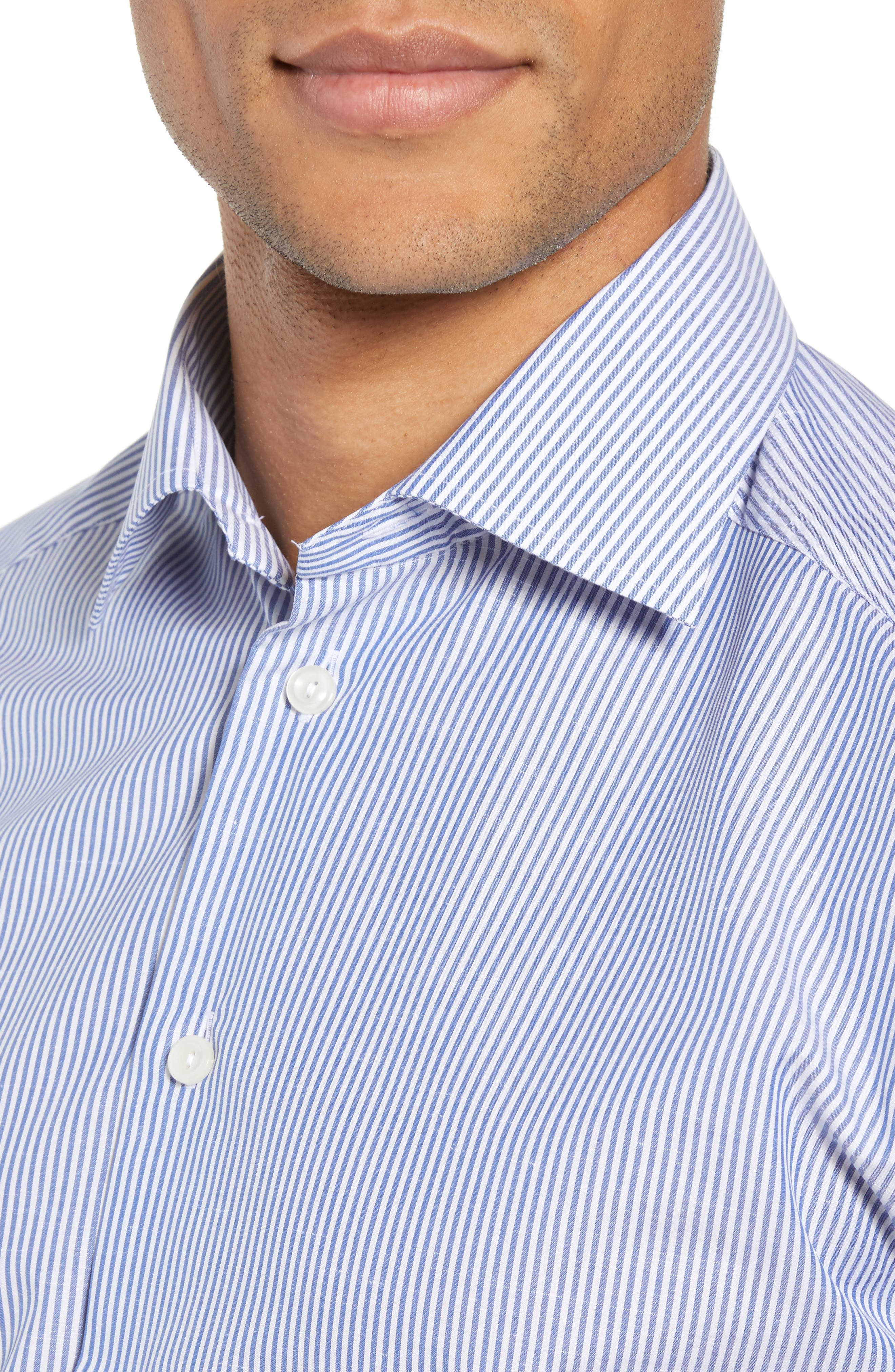 Slim Fit Stripe Dress Shirt,                             Alternate thumbnail 2, color,