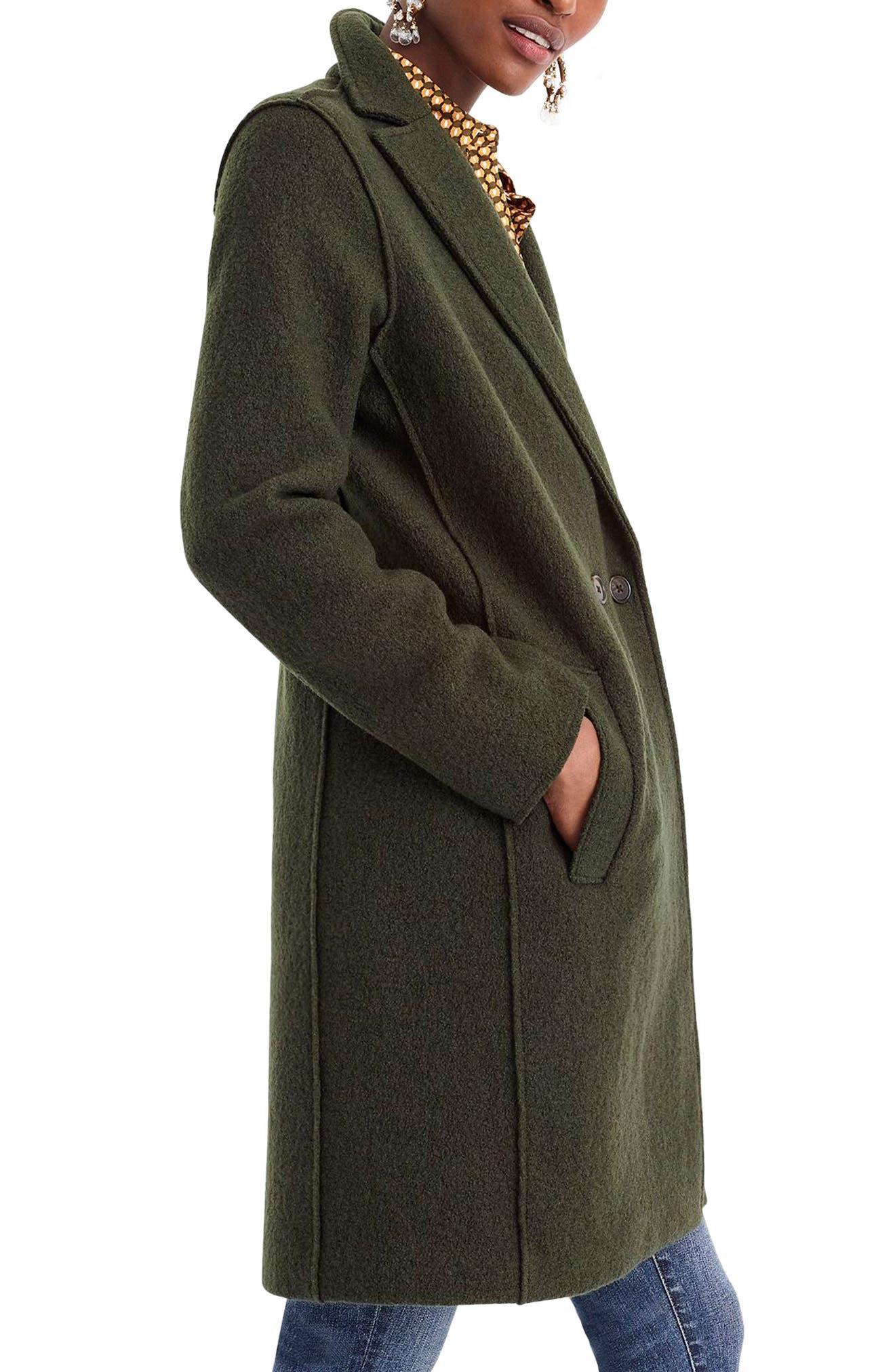 J.CREW,                             Daphne Boiled Wool Topcoat,                             Alternate thumbnail 4, color,                             301