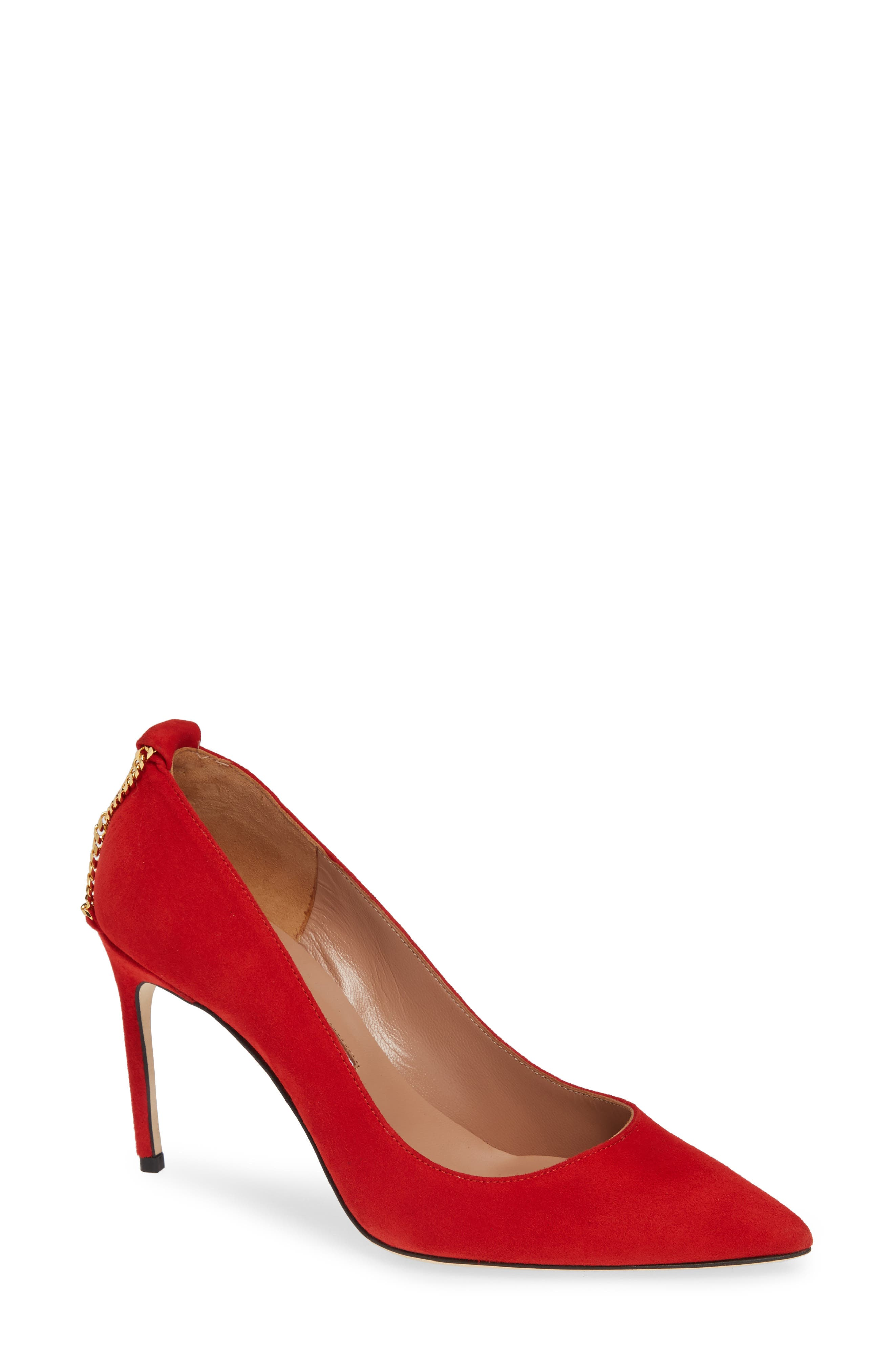 BRIAN ATWOOD Voyage Pump in Red Suede