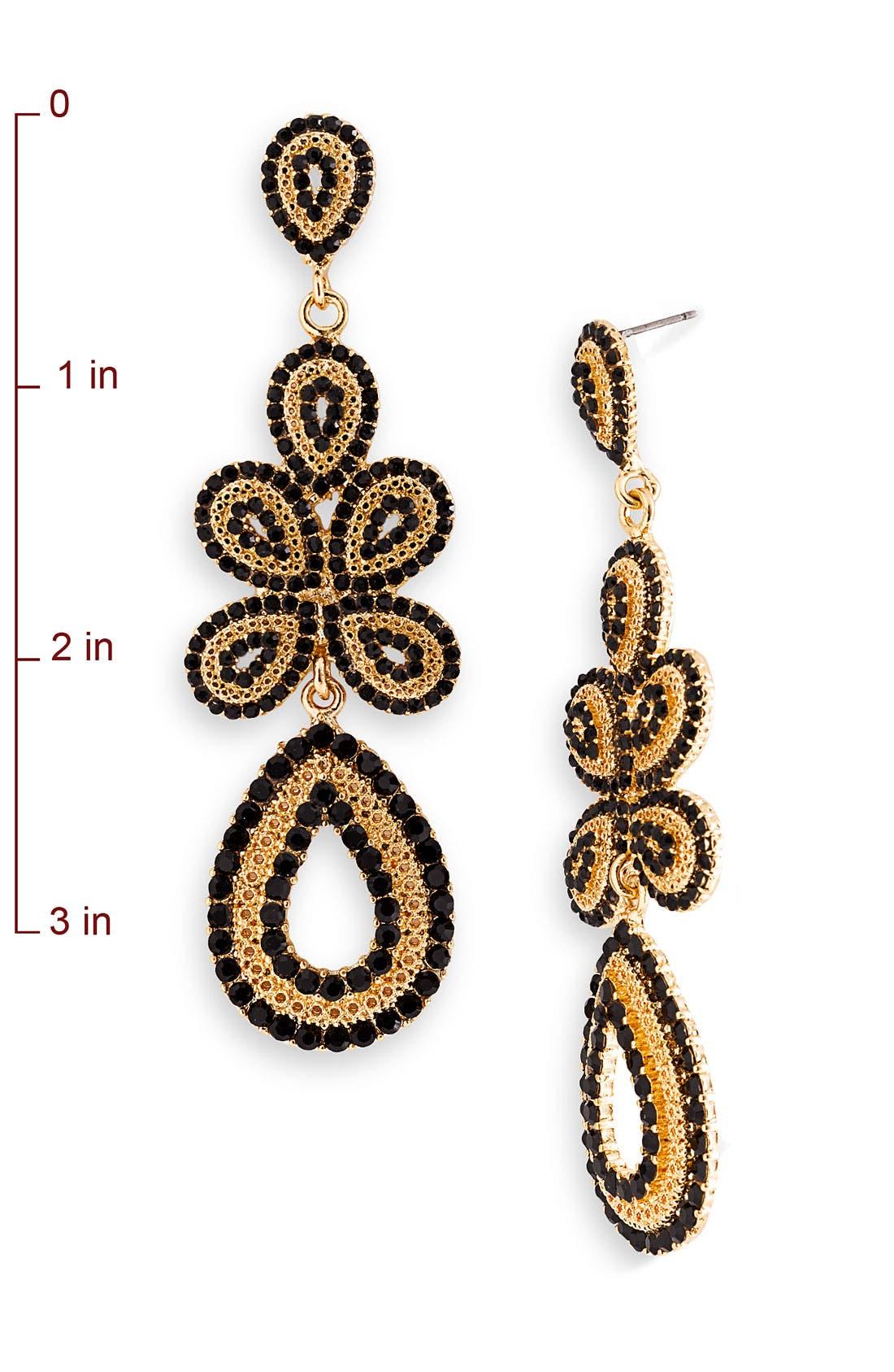 'Ornate' Linear Statement Earrings,                             Alternate thumbnail 2, color,                             001