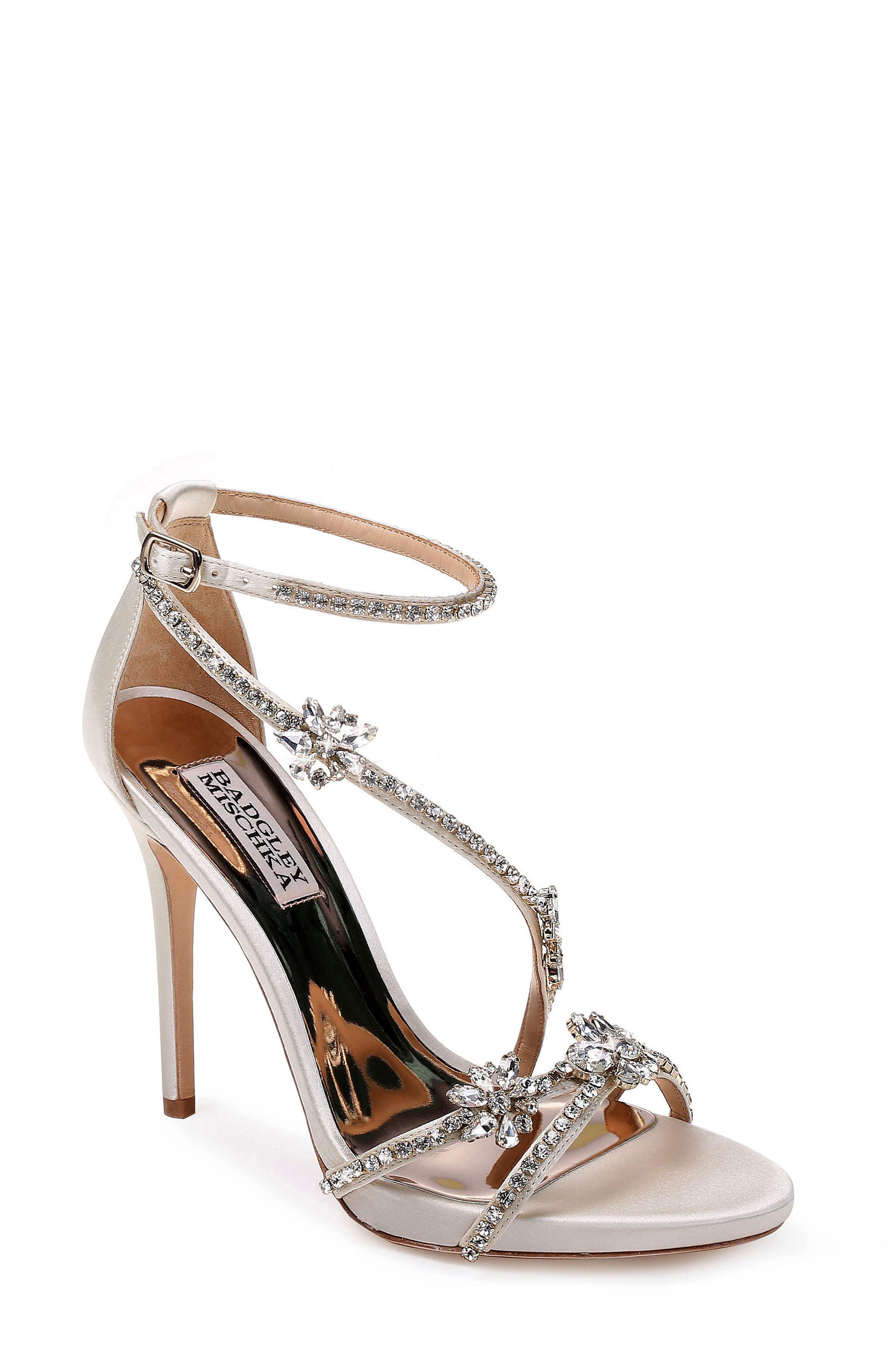 Hodge Strappy Sandal,                         Main,                         color, IVORY SATIN
